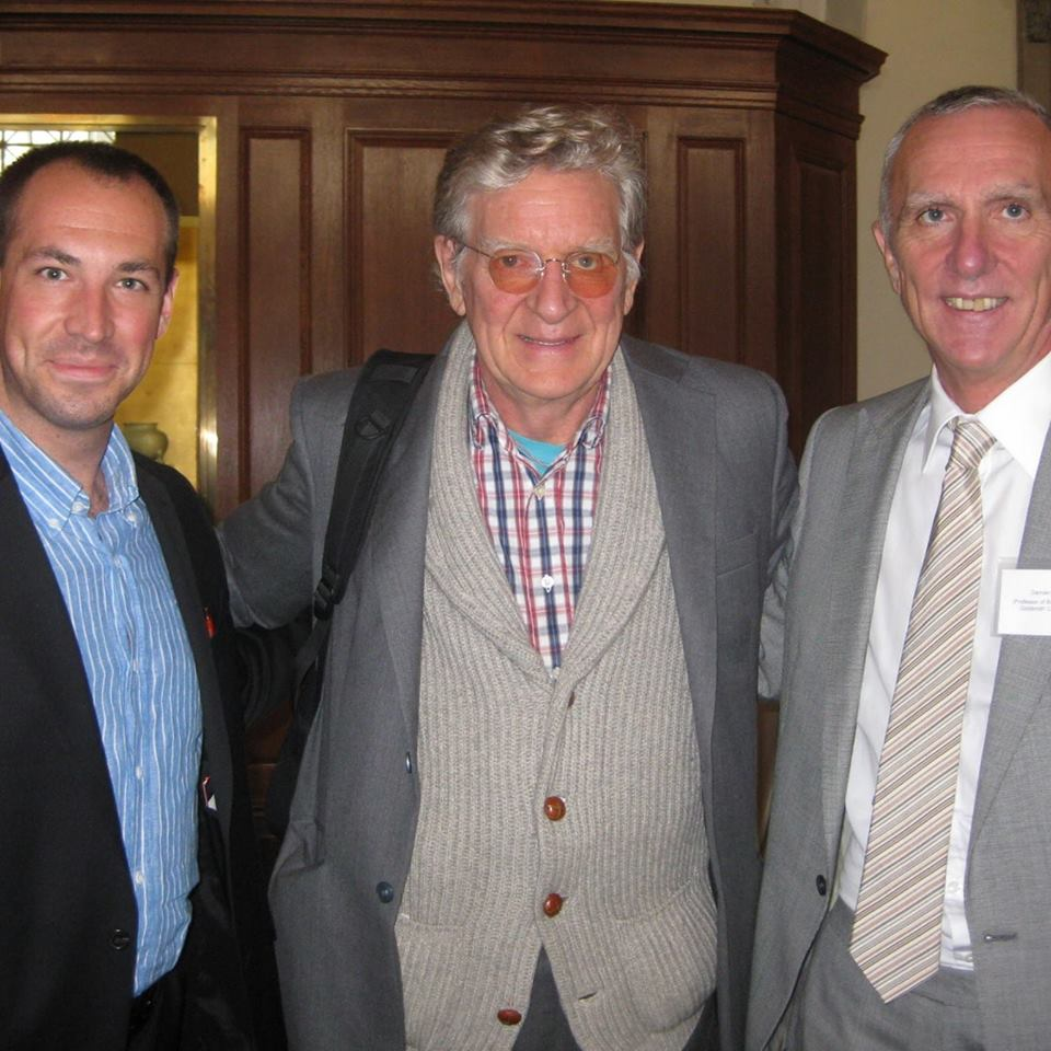 Buddhist ethics conference, Columbia University, with Bob Thurman and Damien Keown, 2011