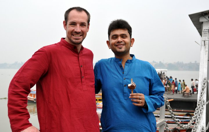 Visiting a University of Bristol friend in Kolkata, 2014