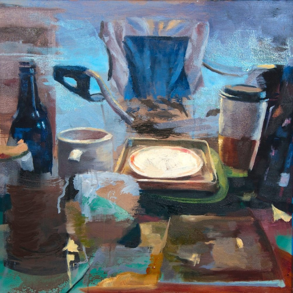 Some Picnic    oil on canvas