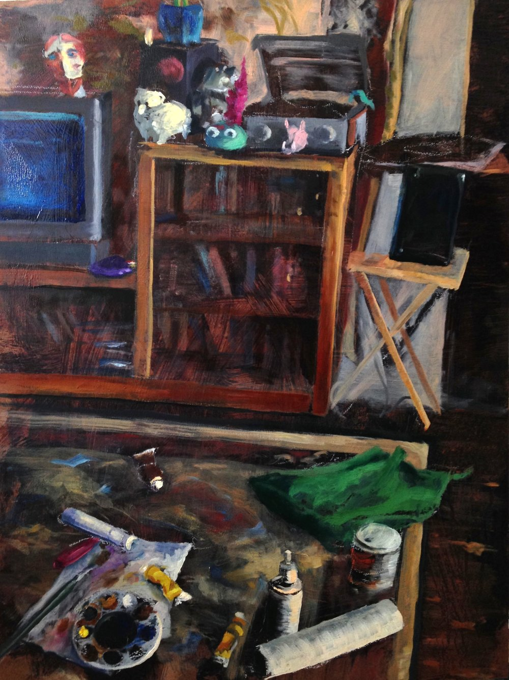Don't Clean Up the Mess   oil on panel