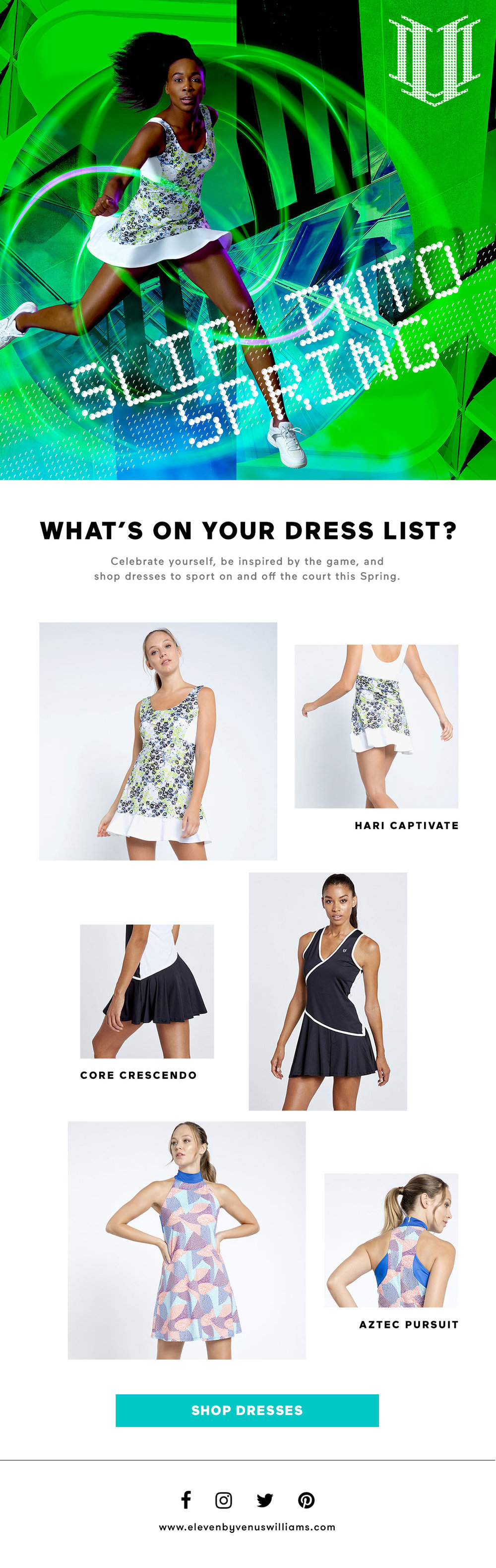 Tennis Dress Email Blast