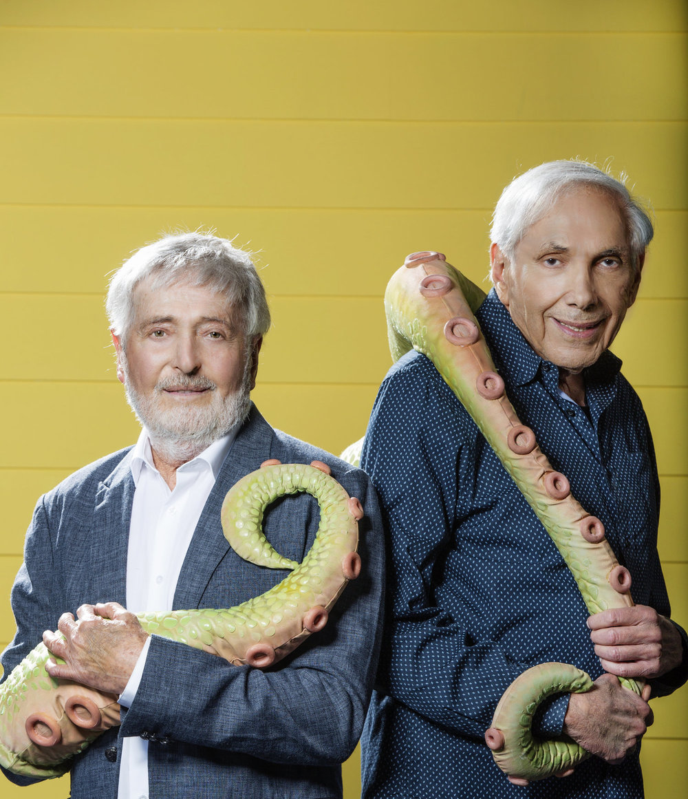 """Mutt & Stuff""creators Sid & Marty Krofft | The Boston Globe | Photographer Elizabeth Lippman"