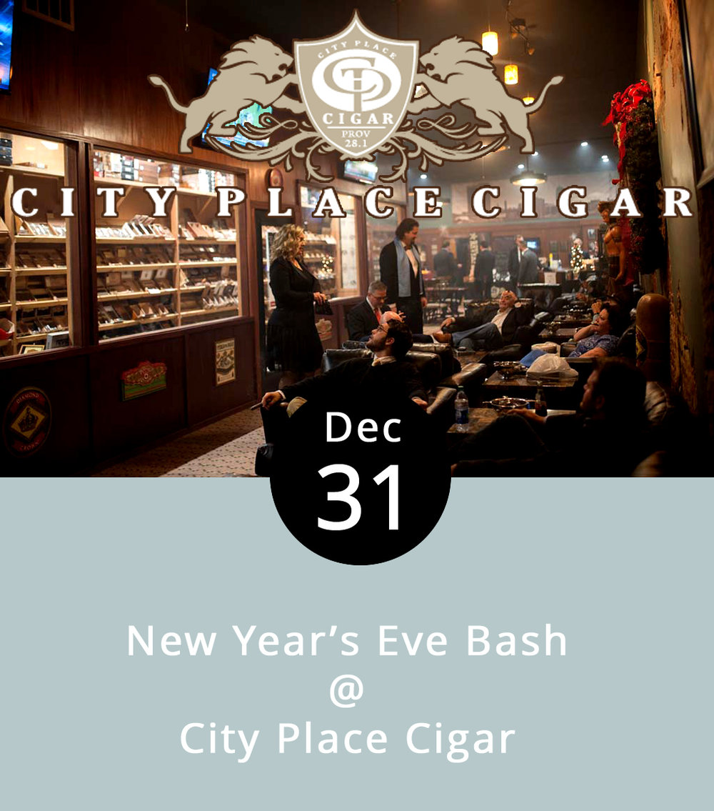 It'll be a rather smoky New Year's Eve at City Place Cigar, which is as it should be. The cigar shop in nearby Wyndhurst, which does have a sister store in downtown Lynchburg (don't get them confused), wanted to thank their regulars by giving them a place to celebrate, stogies in hand, on New Year's. And, they're happy to see new faces too. They're providing food, but no alcohol. They'll also have their humidors stocked for those who care to partake. The shop, which recently came under new management, will be holding a raffle featuring some of their top products. This is an 18+ event, for obvious reasons, and there's no cover. Smoking begins at 6 p.m. and runs until 1 a.m. City Place Cigar is located at 1507 Enterprise Dr. in Wyndhurst; call (434) 237-9084   for more info.  https://www.cityplacecigar.com/