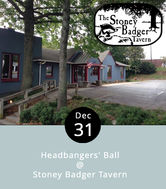Calling all metalheads… the Stoney Badger is leaning toward the harder stuff this New Year's Eve with a Headbangers' Ball that's set to get rolling at 9:30 p.m. It'll feature a celebratory set or two from Last Night's Villain, a local band who specialize in '80s and '90s heavy rock and metal. It's not necessarily a sitdown affair, but seats are available on a first come, first served basis. There's a $10 cover charge, which includes a bottle of champagne for what's certain to be a hard-hitting and headbangin' midnight toast. The full Stoney Badger menu, including those awesome wings, will be available, and there will be free cab rides home for anyone who loses track of their designated driver. The Stoney Badger is located at 3009 Old Forest Rd.; call (434) 384-3004 for more info.  https://www.facebook.com/events/663854647107947/
