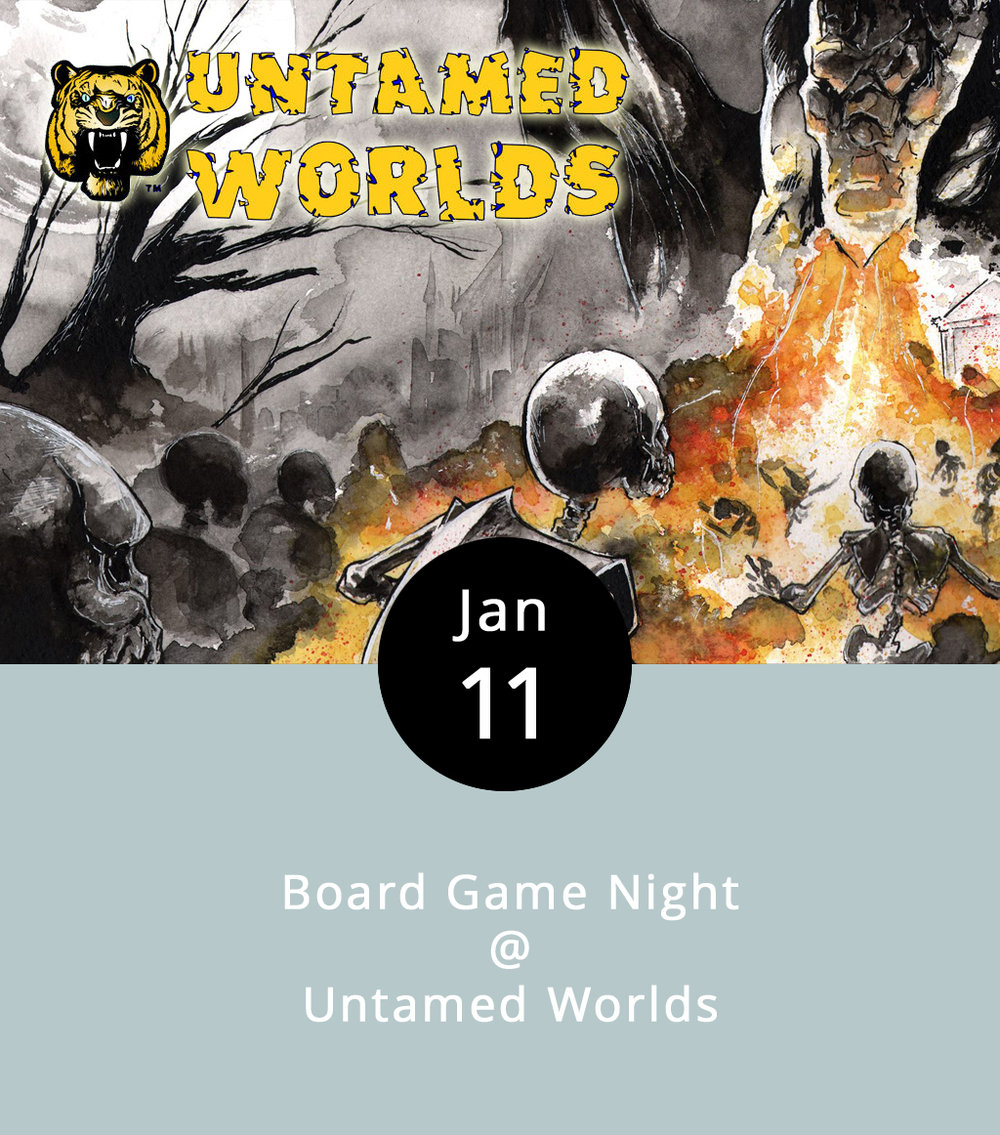 Tired of battling dragons whilst sipping from a sacred pewter chalice all by your lonesome? Who wouldn't be? Thankfully, Untamed Worlds has a potential alternative for those inclined toward wizards and warfare. Every Wednesday, the gaming and comic book hotspot at Timbrook Square Shopping Center hosts a board game and role-playing night. Here's how it works: store regulars bring in games like  Settlers of Catan ,  Ticket to Ride , and  Munchkin , invite others to join in, and the competition commences. Store owner Chris G. insists that it's a great event for families looking to get out and try something new, or even something familiar with a twist. Snacks and sodas are available for purchase from the front counter, and participants are welcome to bring their own games. It starts at 6:30 p.m. and runs for as long as it has to (roughly three hours). Untamed Worlds is located in Timbrook Square Shopping Center, 20722 Timberlake Road #K, Lynchburg; call   (434) 237-7115 for more info.   U  ntamed Worlds  Facebook