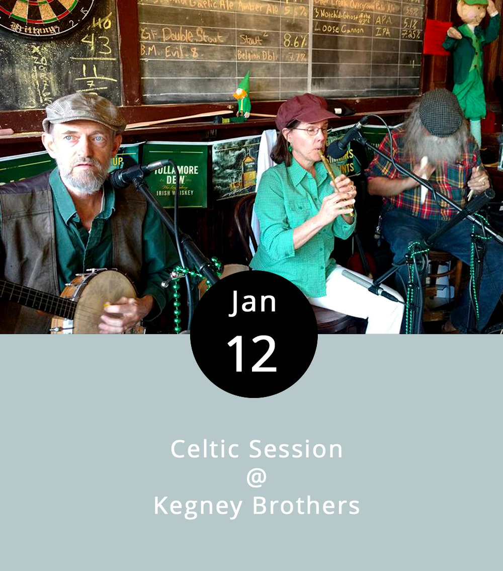 """We love the Wikipedia definition of what's known as a session, or  seisiún  in the original Celtic. Here goes: """"A pub session refers to playing music and/or singing in the relaxed social setting of a local pub, in which the music-making is intermingled with the consumption of ale, stout, and beer and conversation."""" It's the intermingling we like so much, as well the idea of consuming conversation. The folks at Kegney Brothers, downtown Lynchburg's one and only Irish pub, have been holding their version of a Celtic Session every Wednesday since the place opened. The music can be hit or miss, depending on who shows up to play. But the pints are always good, the bartenders take their pours seriously, and there's good pub grub on the menu. The session-ing begins at 8 p.m. and continues until 11:30-ish. Kegneys is located right next to Dish, at 1118 Main Street; call (434) 616-6691 for more info.  http://kegneybrothers.com/event/irish-music/?instance_id=663"""