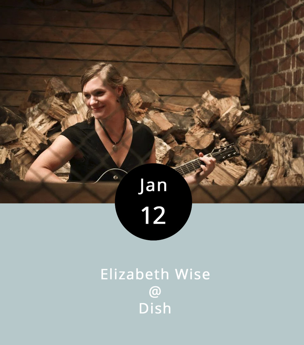 Elizabeth Wise is a semi-local singer and guitarist who's definitely lived the wanderer's life. Born and raised in Richmond, VA, she's spent time in New York City, New Zealand, and Taiwan, all the while cultivating a deep love and reverence for the blues. She currently calls Memphis home, although she seems to be spending quite a bit of time in Central, VA, playing solo shows, showcasing her slide guitar playing, and her sweet n' gutsy voice. Tonight, Wise is at Dish on Main Street, where the plates are small but the flavors are big. There's no cover charge, and the music runs from at 8-11 p.m. Dish is located at 1120 Main St.; call (434) 528-0070, or find  Dish  on Facebook.  ElizabethWise.com   Elizabeth Wise Music