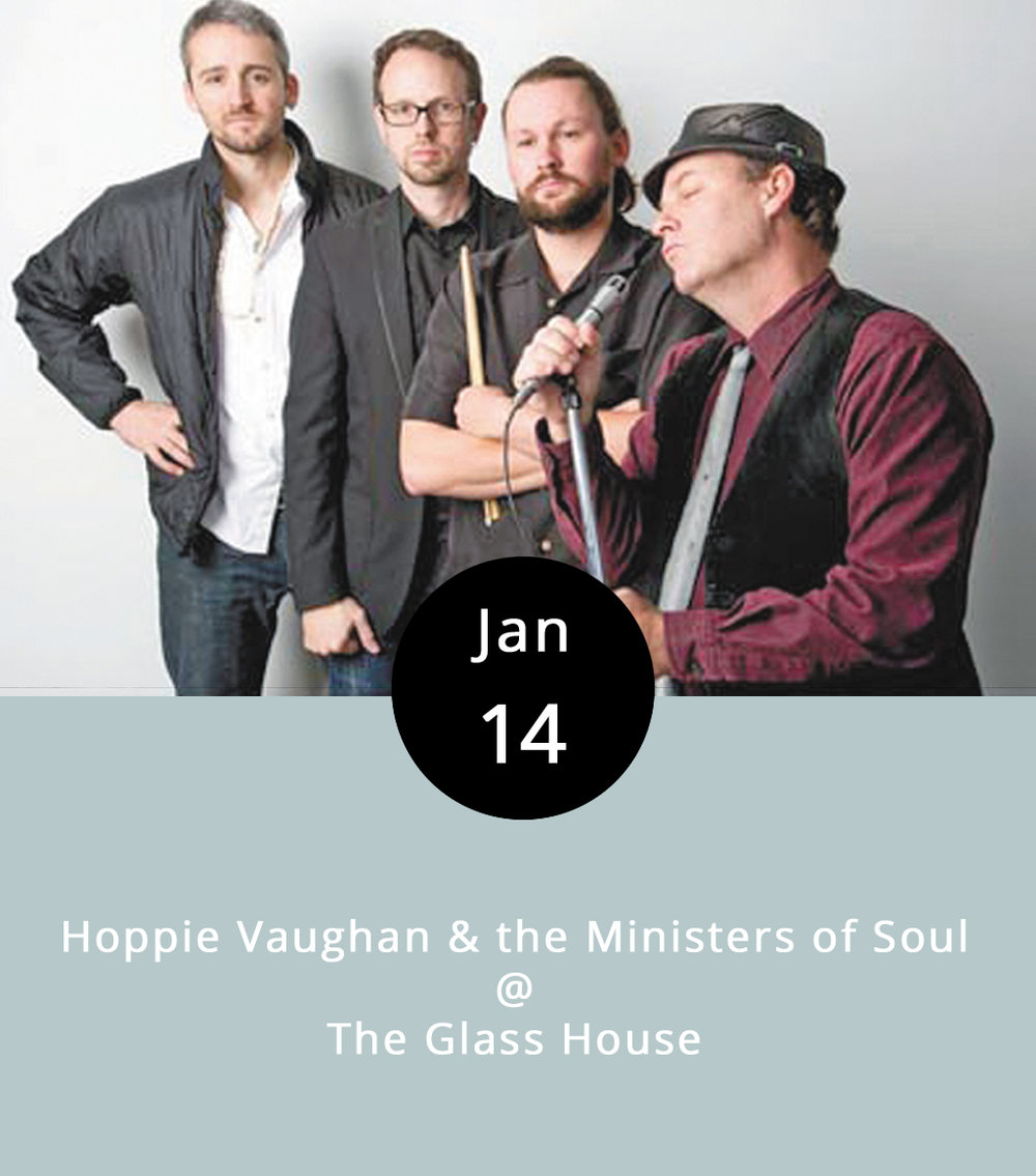 Hoppie Vaughan's voice is surprising. Surprisingly awesome. Seriously. He and his band, the Ministers of Soul, specialize in Cajun blues, Southern blues, deep blues, and, well, you get the point. They're bluesy. They're playing tonight as part of the Ellington Presents series at the aptly named Glass House on Jefferson Street. They've been an Ellington staple for the better part of a decade now, according to Ellington board member Matt Cothran, and they tend to draw a crowd. The show begins at 8 p.m. Tickets are $10 in advance; $15 at the door. It's a 21-plus show, with full bar service. The Glass House is at 1019 Jefferson St.; call (434) 616-3421 for tickets and more info, or visit the  Ellington website . For a taste of Hoppie's Ministers of Soul, check out  http://www.hoppievaughan.com/music.html .