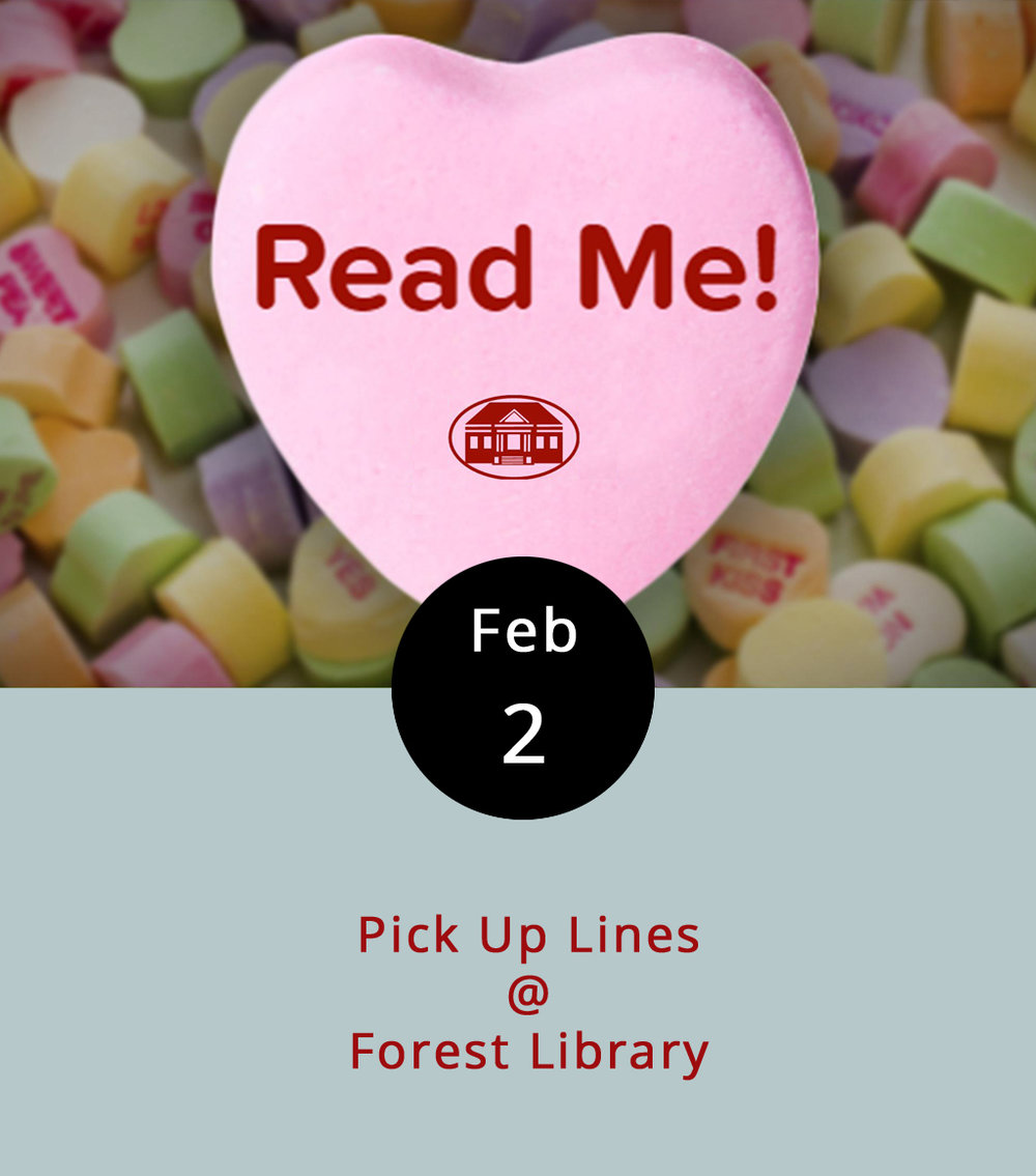 "We appreciate a good Ryan Gosling ""Hey girl"" joke as much as anyone, but do those kind of pick-up lines ever really work? Maybe for libraries. The Forest Library, in association with the Bedford Public Library System, is kicking off a pretty cool February reading program to test that hypothesis. Visitors have the option of borrowing from a special selection of books that are wrapped to conceal their identifying information, and are labeled only with an opening sentence or two – what they've deemed a pick-up line. And, a piece of chocolate is included with every book. It's a crafty way to encourage readers to take a chance on finding a new literary love. The Library is open Mon.-Sat. from 10 a.m. to 6 p.m., and until 8 p.m. on Tues. and Thurs. It is located at 15583 Forest Rd. in Forest; call (540) 425-7002, or click  here  for more info."