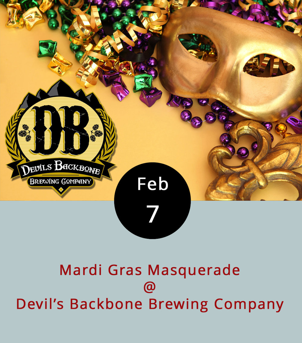 For those of us who can't make it to New Orleans this particular Shrove Tuesday, the folks at Devil's Backbone Brewing Company are throwing their own Mardi Gras Masquerade party, complete with jambalaya, mask-making, king cake imported straight from Louisiana, and probably some beer. If you don't dig crawdads, the brew pub's full menu will be available. The pub will also be serving specialty cocktails made with local ingredients, as well as DBB's seasonal specialty beers, most of which aren't available in stores. The Cajun and Zydeco music gets started at 1:30 in the afternoon and the event runs until 10 p.m. There's no cover charge. Devil's Backbone Brewing Company is located at 200 Mosby's Run in Roseland. For more information, click  here  or call (434) 361-1001. If it's Tuesday, that means karaoke night at Kegney Brothers. And, if it's Kegney Brothers (and it is), then there's an excellent selection of beer on tap, an impressive variety of Irish whiskeys on the top shelf, and hearty pub fare on the menu. The singing, which is often hosted by our pal Hope Irons, begins at 10 p.m. Kegney Brothers is located at 1118 Main St.; call (434) 616-6691 or click  here  for more info.