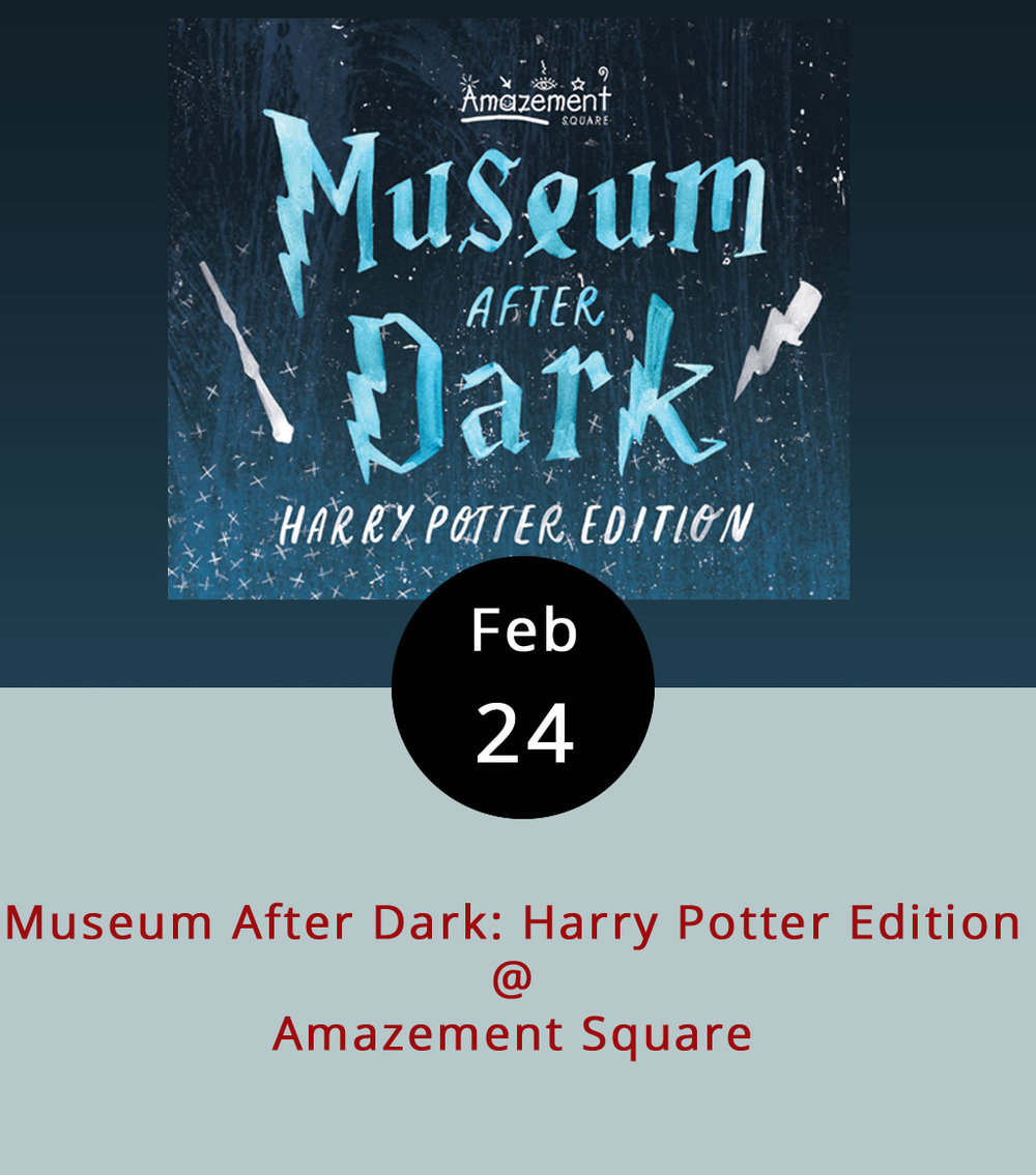 Calling all Muggles, calling all Muggles! Bring your wands and brooms down to Amazement Square (27 9th Street) tonight for their annual Museum After Dark: Harry Potter Edition. For $35 per person, or just $30 for museum members, you get to sample beer from Apocalypse Ale Works, Blue Mountain Brewery, Bold Rock Hard Cider, and Devils Backbone Brewing Company; eat food from Kegney Brothers and {RA Bistro}; and partake in games and crafts, Hogwarts-style. Oh, and you get to support the installations, exhibits, and outreach programs that make Amazement Square so, well, amazing. The event is 21+; there will be a cash bar. Tickers are available on Amazement Square's  website ; call (434) 845-1888 for more details.