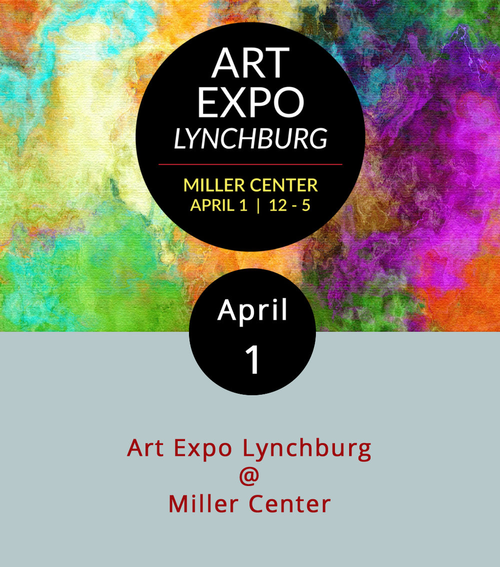 The folks at Lynchburg Parks & Rec have teamed up with Seven Hills Art Club to transform the three floors of the Miller Center (301 Grove St.) into an emporium for local artists today from 11 a.m.-3 p.m. There will be art demonstrations, art presentations, art for sale, and even arts and crafts for kids. Pegeen Griessmayer will be on hand to facilitate a wine tasting on the third floor, and Ken Hobson will give a watercolor demonstration from noon-1 p.m. The event is free, but the wine tasting is $10. Click  here  for more info and a full map of the event, or call (434) 455-5858.
