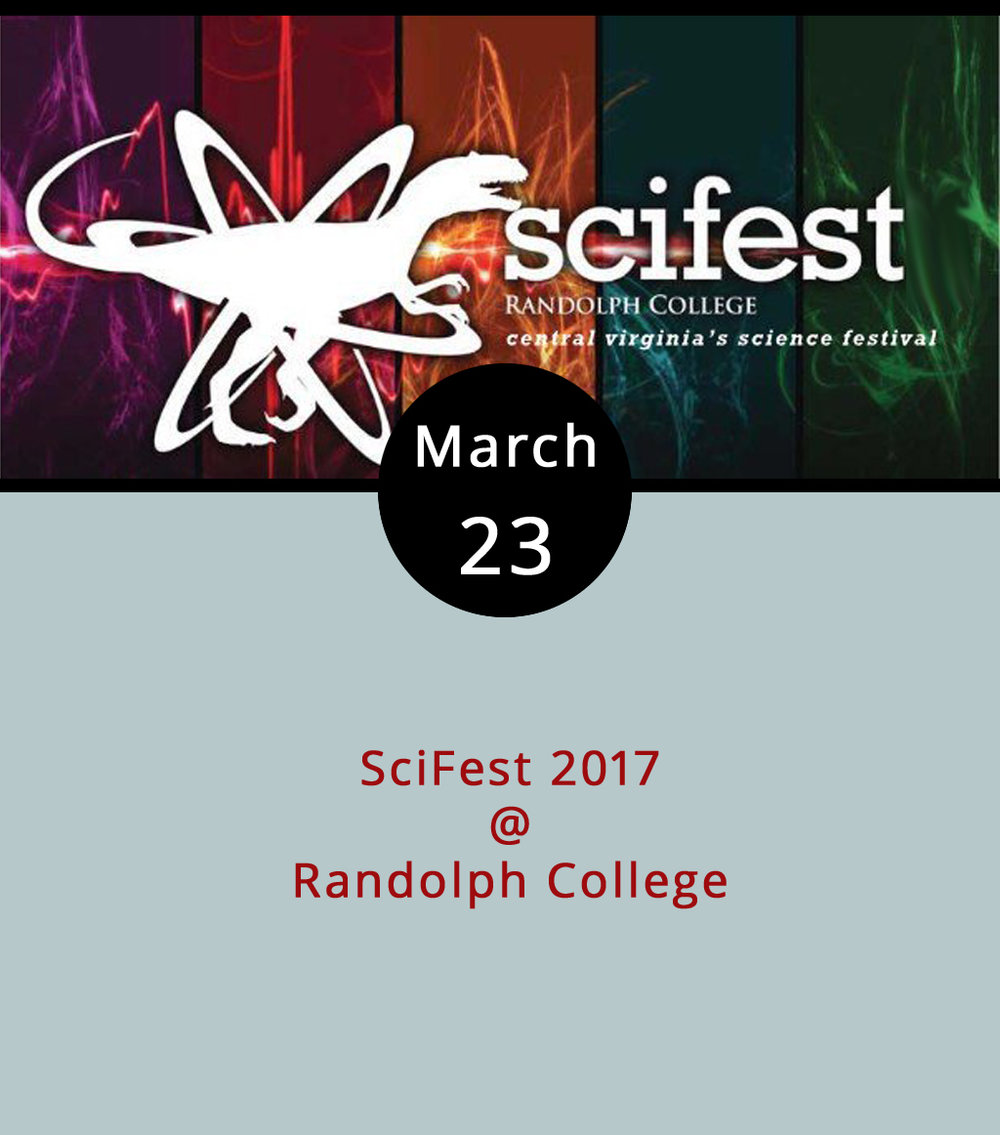 The annual SciFest at Randolph College (2500 Rivermont Ave.) has grown from a one-day event for kids into an artfully engineered long weekend of empirically provocative scientific exploration for people of all ages. There's too much going on for us to list it all here, but the experiments begin this evening at 7:30 p.m. in Smith Hall with a performance by two-time international juggling champion Greg Kennedy, who's performed with Cirque du Soleil and apparently drops a fair amount of science into his act. Bet you didn't even know that was a thing. There's also a science poetry jam (Friday at 6 p.m. in Wimberly Recital Hall); a glow stick star party (Saturday at 8:30 p.m. at Winfree Observatory); and a Maker Faire (noon-4:30 p.m. inside Main Hall) on Sunday, with bouncy houses and a petting zoo outside on Front Campus starting at 1 p.m. For more info and a complete schedule, click  here .