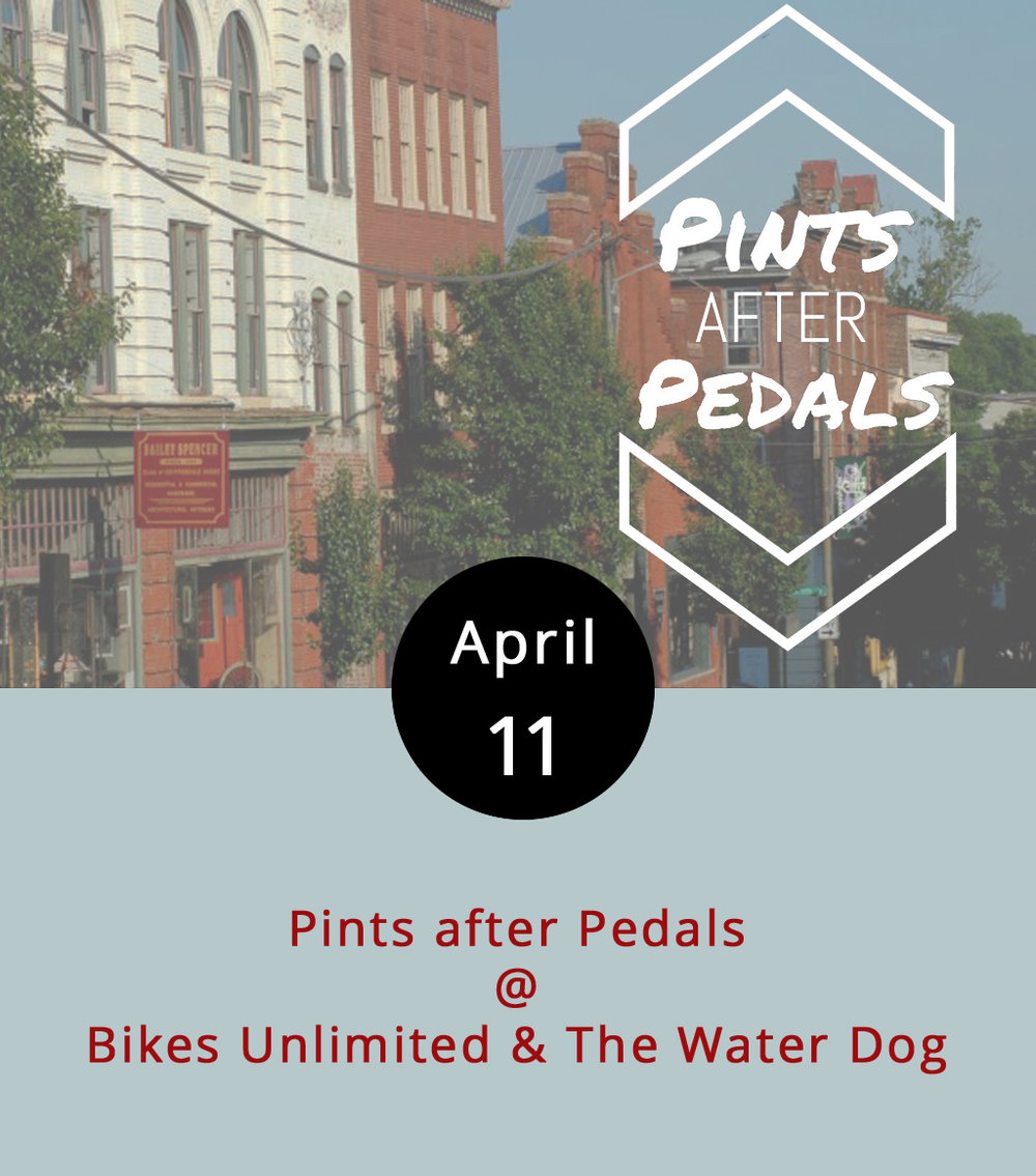 Bikes, beer, and the Blackwater Trail. Three great b's that go great together, or something like that. Bikes Unlimited has teamed up with the Water Dog for an hour of pedaling on the Blackwater Trail, followed by a social gathering at the Water Dog (the beer is optional). Just show up with your bike at 6 p.m. at Bikes Unlimited (1312 Jefferson St.), and be ready to ride for about an hour before ending up right down the street at the Water Dog (1016 Jefferson St.). It's free and open to bikers of all skill levels. Click  here  for more info, or call (434) 385-4157.