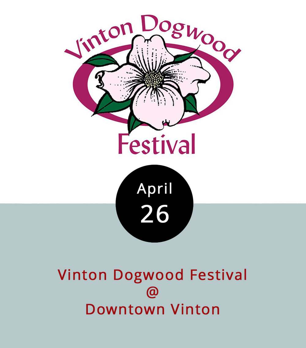 Sitting about an hour away from Lynchburg, the Roanoke County town of Vinton is known for two things: actor David Huddleston of  Blazing Saddles  and  Big Lebowski  fame, and the Dogwood Festival. For the past sixty-odd years, the Vinton has celebrated the blossoming  Cornus Florida  (a/k/a) the dogwood tree, with a parade and the crowning of a Dogwood Queen (presumably a person, and not an actual dogwood tree). The event has grown to include a carnival, live music, food, a 5k run, and vendors of all sorts. The festival opens today with a Pay-One-Price-Ride-All-Night event, and a performance by the band Fuzzy Logic at 6:30 p.m. Gate admission is free, and the festival runs until April 30, with a Dogwood Distance Run, bluegrass and jazz bands, and a parade on Saturday; and a farmers market on Sunday.  It's held in downtown Vinton (100 Highland Ave.), and you can find directions and a full schedule of events by clicking  here . Call (540) 983-0614 for more info.