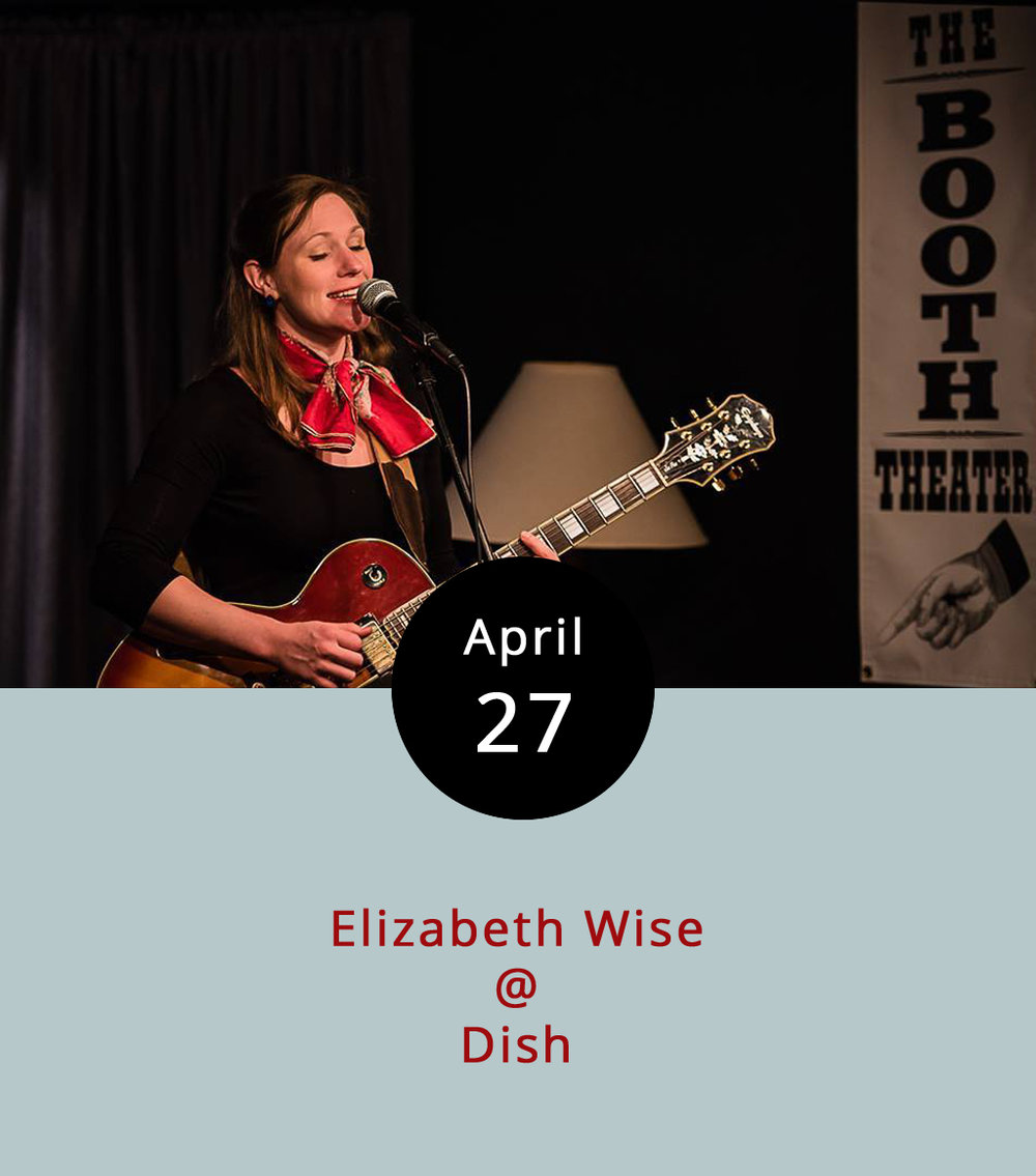 So, we're all in on doing our best to encourage folks to go out and see Elizabeth Wise whenever she make616s the trip from Richmond via Memphis to Lynchburg to play around town. And, we're also fully committed to making the Thursday night Local Lounge series at Dish (1120 Main St.) a happening thing. Seriously, you can have dinner and drinks, and hang out for laid-back performances by some of the better singer-songwriters, acoustic artists, and bands around town starting at 8 p.m. just about every Thursday, and there's no cover. Tonight, it's Elizabeth's turn. We've called her a blues guitarist in the past, and she can do that, both with and without a slide. But she's got a whole lot more than blues in her repertoire, which includes some jazzy numbers, and a few that are in Spanish, French, or one of those other Romance languages. She'll start playing around 8:30 at Dish tonight; call (434) 528-0070. If you can't make it out this evening, Wise will be playing an even more low-key set in the bar area at the Corner at Rivermont (2496 Rivermont Ave.) tomorrow evening from 7-10 p.m.; call (434) 219-6035 for info on that. And, you can also catch her after 10 p.m. tomorrow night at Kegney Brothers (1118 Main St.); call (434) 6