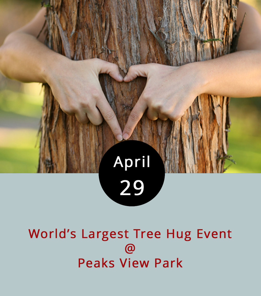 According to the Guinness World Record website, the largest tree hug to date consisted of 4,620 people and was achieved by Asianet News Network on March 21, 2017. Lynchburg Parks & Rec is hoping to break that record today at Peaks View Park (170 Ivy Creek Ln.), and they're going to need help from a lot of people – roughly 4,621 people by our calculations. To lure folks out for a little tree hugging, they've got a full slate of attractions, including food trucks (Jacked Rabbit, Uprooted, Upper Crust, and more); music by Apple Butter Soul and People Like Trees; a Kidzone with laser tag, moonwalks, and more; a Zen zone with yoga and other mindful pursuits; and all kinds of outdoorsy stuff. There will also be an evening screening of  The Lorax , and family campgrounds for those who want to stick around. For more info, click  here , or call (434) 455-5858. To volunteer, click  here .