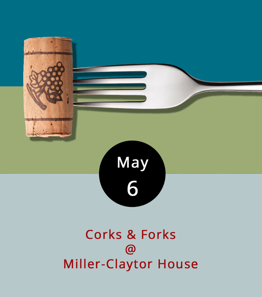 The Lynchburg Historical Society has chosen the Kentucky Derby as its theme for the annual Corks & Forks fundraising dinner. Jimmy's on the James will provide the food, and there will be beer and wine to sample as well. The dinner, with music by the band Caravan, runs from 5-8 p.m. at the Miller-Claytor House (2206 Miller-Claytor Ln.) in Riverside Park. Reservations should be made before April 28. Tickets are $35 for LHS