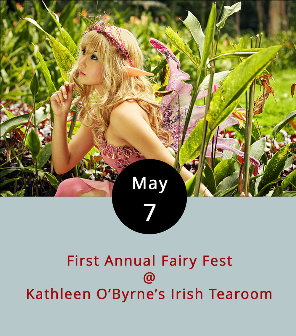 Calling all pixies, nixies, and members of the Fair Folk: there will be a not-so-secret fairy gathering at Kathleen O'Byrne's Irish Tea Room. The Tea Room at Boonsboro Shopping Center (4925 Boonsboro Rd.) will serve as event headquarters, offering tea with real live fairies all day for just $10, with events scheduled all around the shopping area. At 11 a.m., Hair Designs of Boonsboro will be snipping and styling fairy hairdos for $7 each; from 11:30 a.m.-3:30 p.m. there will be a silent auction featuring objects of arcane origins (or maybe just regular ones), the proceeds of which benefit Amazement Square. Throughout the day, there will be a hunt for fairy doors, and later on in the afternoon, there will also be a contest to judge the best fairy doors, houses, and gardens. The grand finale of the day will be a fairy parade at 3 p.m., led by the one and only Tinkerbell. Coincidentally, fairy food trucks will arrive on the scene at the same time, for anyone in need of a pick-me-up. The festival runs 11 a.m.-4 p.m., rain or shine. Call (434) 473-5983 for more information, or click  here .