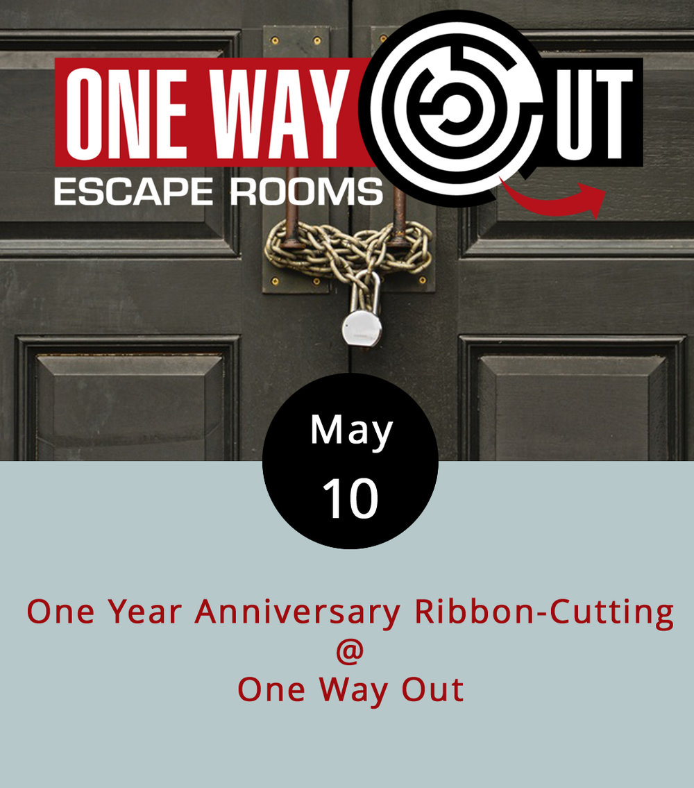 "Just a month or two ago, One Way Out (2264 Lakeside Dr., Suite A) opened a new, archeology-themed schemed escape room called ""Search for the Lost Professor."" Think Indiana Jones without all the travel expenses. That's to go along with ""Escape Detention"" ( The Breakfast Club  meets the teacher from hell); ""Trapped in the '80s"" ( The Breakfast Club  meets  Back to the Future ); and ""The Shuttered Room"" ( American Horror Story , season one?). Not sure what an escape room is? Think of it as a real-life video game, a group puzzle-solving exercise, a good way to kill an hour or so, or as the  FAQ section  on One Way Out's website puts it, a ""physical adventure game in which people are 'locked' in a room with other participants,"" which sounds a little like Sartre's  No Exit . Today, One Way Out celebrates its one-year anniversary from 4-6 p.m. with a brain-teasing celebration that will surely involve some puzzle solving, some prize giving, and the pleasant buzz of mystery. One Way Out is open Wednesdays from noon-8 p.m.; Thursdays 4-10:30 p.m.; Saturday 11:30 a.m.-10:30 p.m.; and Sundays 1-7:30 p.m. You can book an adventure  here , or call (434) 329-7329."