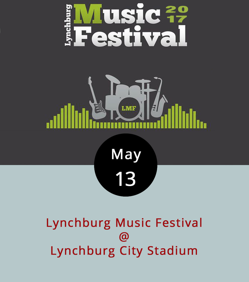 The time has arrived for the 2017 Lynchburg Music Festival. It is, indeed, a big concert featuring some of the best live music that Lynchburg has to offer. This year's bill includes Dragonfly, Here's to the Night, Tyler Hammond, and a band that has one of our new favorite names — Kanye Twitty. We're going to assume they play both kinds of music: country and hip-hop. The concert is held at Lynchburg City Stadium (3176 Fort Ave.), but not on the baseball diamond, or so we're told. Artisans, crafters, and food vendors will also be on hand for the shindig, which runs from 1-9 p.m. Tickets are $20 in advance, $25 at the gate, and kids under 12 get in for free. Click  here  for tickets and more info.