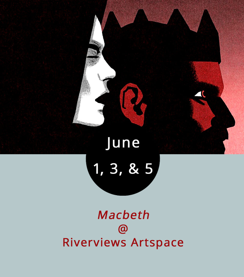 "It's a good week for Shakespeare lovers in Lynchburg. In addition to Wolfbane's production of  Romeo and Juliet , the local theatrical company Rogue Productions is continuing their take on  Macbeth . They've put their own spin on the Bard's Scottish play, eschewing the conventions of a seated audience and taking their viewers on a ""promenade-style show"" down at Riverviews (901 Jefferson St.). Performances are at 7 p.m. tonight, Saturday, and Sunday. There's also a 1 p.m. matinee this Saturday. Tickets are $15. Click  here , or call (434) 847-7277."