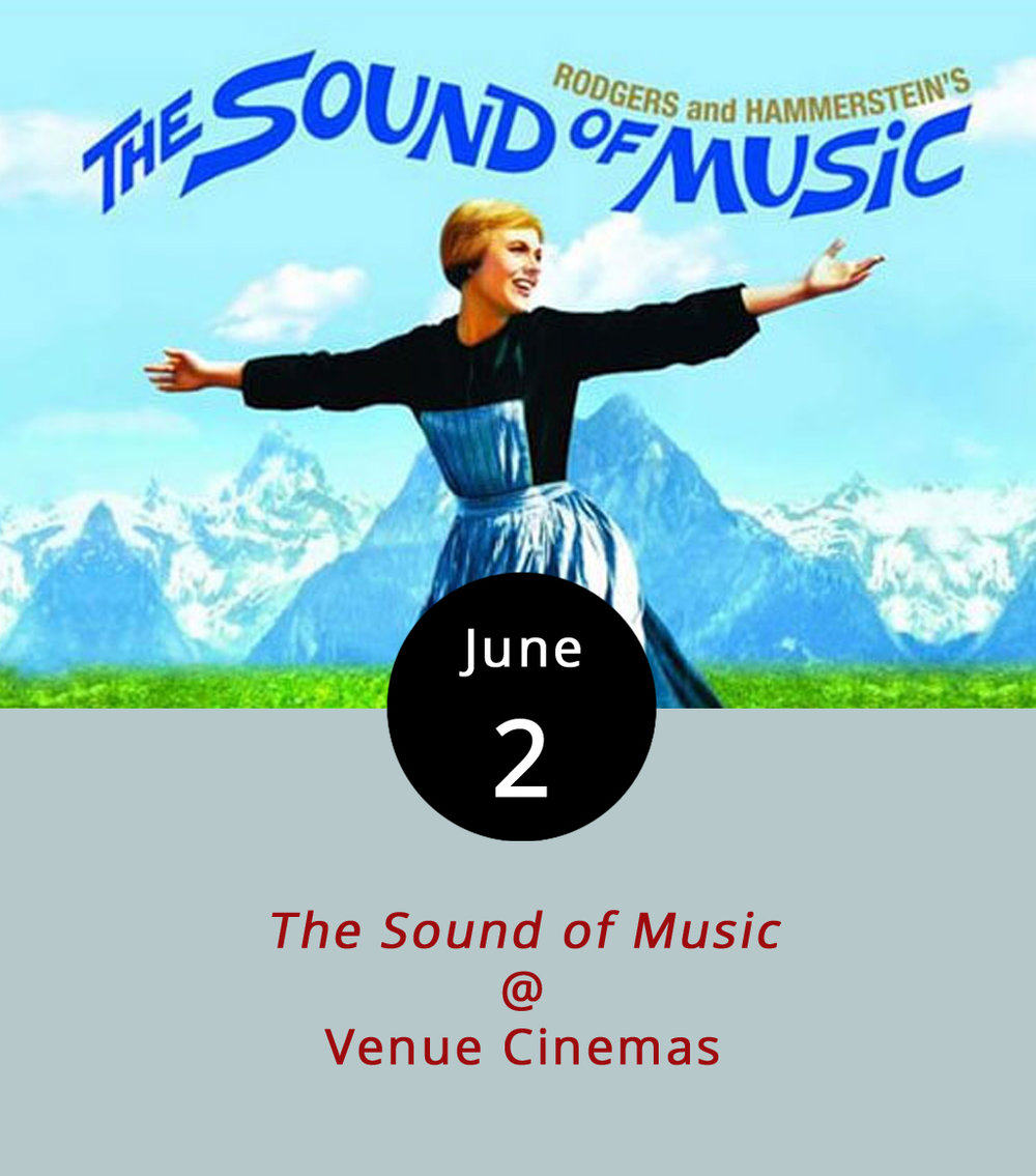Venue Cinemas (901 Lakeside Dr.) is ringing in the summer season with a classic movie series. And they're starting with a real classic classic: the 1965 musical  The Sound of Music . No spoilers, but here's the premise: It's right before WWII, and Julie Andrews is an Austrian nun who does more singing than praying. Temporarily exiled from her convent, she goes to work for a wealthy motherless family, and more singing commences. As the war looms, she endeavors to help the family escape from Europe whilst flirting with Christopher Plummer, and engaging in quite a bit more song and dance. It screens at 11:45 a.m., 3:20 p.m., and 7:15 p.m. Click  here  for tickets ($2.25 or $3), and call (434) 845-2398 for more info.