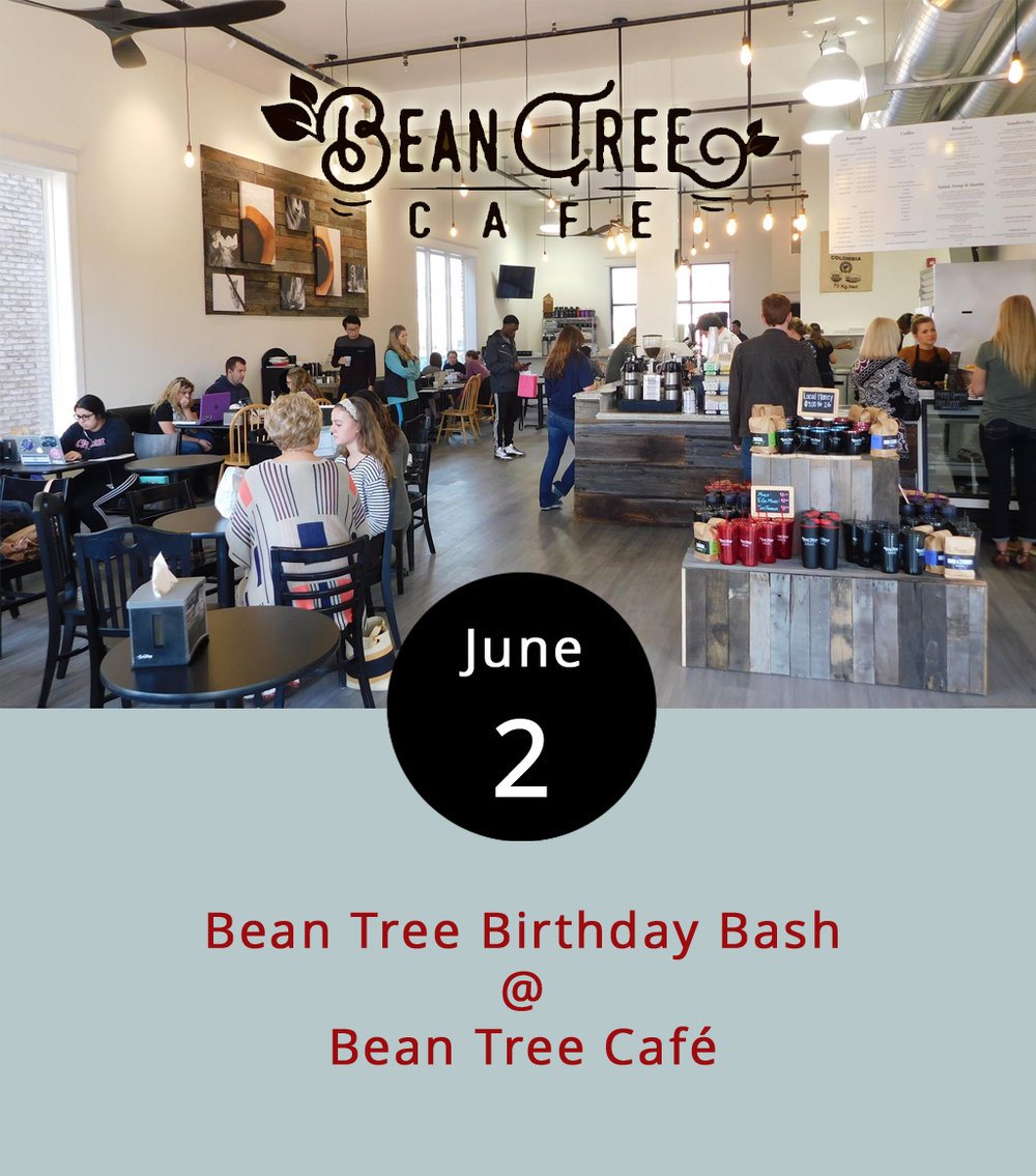 Bean Tree Café (105 Cornerstone St.) is turning three years old and celebrating by giving stuff away. Throughout the day, they'll be handing out free ice cream to guests, including samples of some of the cooler flavors from the local Homestead Creamery. The Virginia radio station the Journey/88.3 FM will be broadcasting live from the site, and there will be gift card and Bean Tree merch drawings throughout the day, from 7 a.m.-11 p.m. You can check out the café menu  here . Click  here  for more info, or call (434) 534-3210.