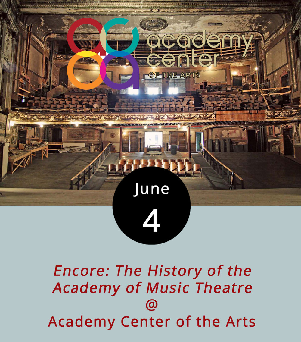 The Academy of Music Theatre opened in 1905 and just had its 110th birthday in 2015. The pink-façaded building is a downtown landmark, and although it closed down in 1958, it was added to the National Register of Historic Places in 1969. For the past decade or so, an effort has been underway to raise money for reconstruction and preservation of the site and there's now hope that the theater will reopen its doors in 2018. The Music Theatre's parent organization, the Academy Center of the Arts (519 Commerce St.), will be screening a documentary made by local filmmaker Steve Smallshaw that details its history and its potential future. The 2 p.m. screening is free, but seats can be reserved by clicking  here . Call the Academy box office at (434) 846-8499 for more info.