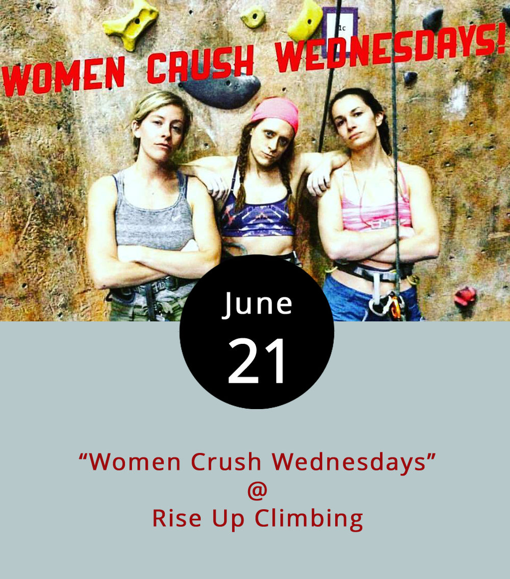 Rise Up Climbing (1225 Church St.) is aiming to elevate the concept of ladies' night, or at least encourage more women to try their hand at climbing. Every Wednesday evening from 5-10 p.m, women receive discounts on climbing passes ($10), gear rentals ($3), and belay instruction ($7, if needed). Novice climbers can be up and climbing within about 30 minutes, according to the Rise Up  website . Click  here  or call (434) 845-7625 for more info.