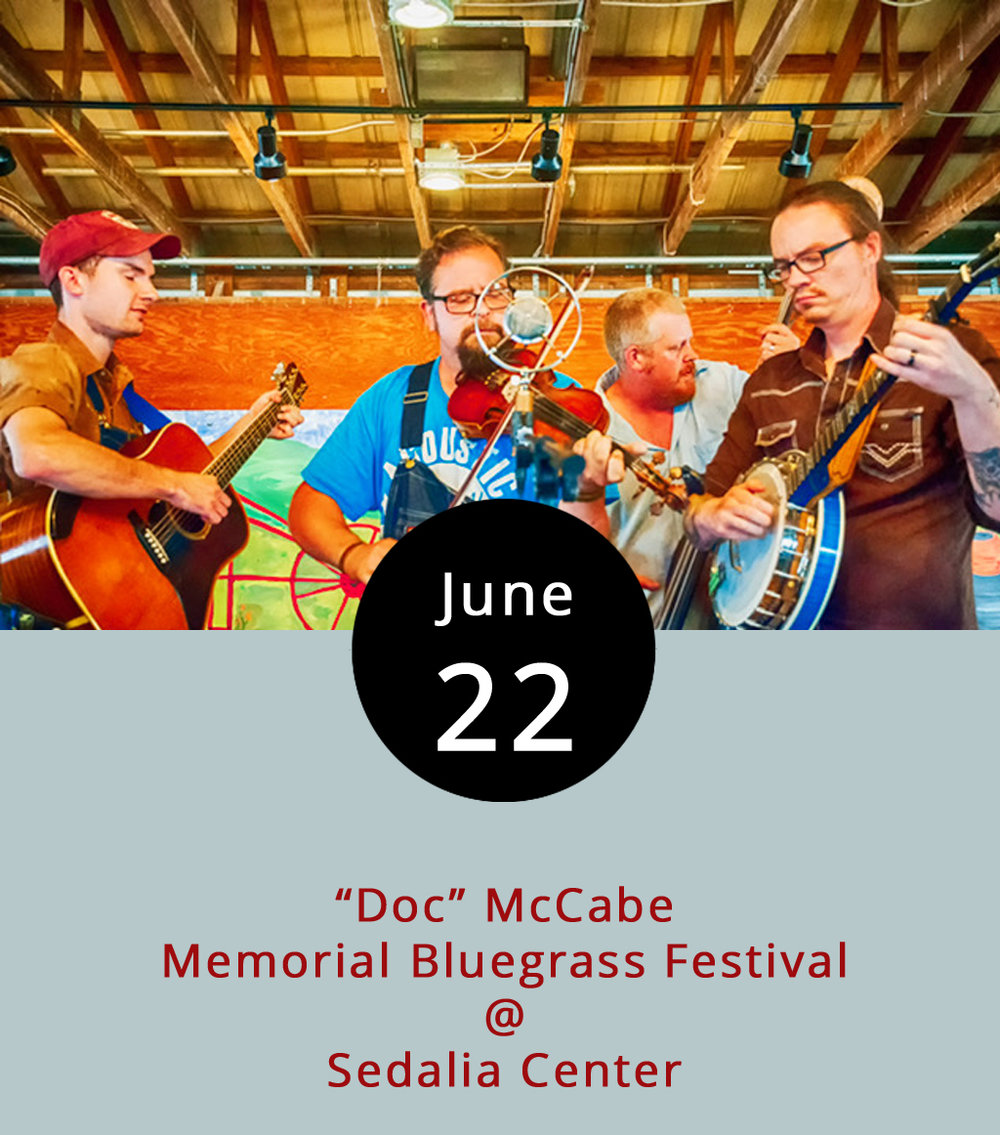 "There's gonna be bluegrass – lots of bluegrass – all weekend long in Bedford County, as the Sedalia Center (1108 Sedalia School Road) hosts its annual ""Doc"" McCabe Memorial Bluegrass Festival. It begins at 3 p.m. today with performances by the  Garrett Newton Band ,  David Bradley Band , and  Lorraine Jordan & Carolina Road  kicking off a friendly three-day competition among regional bluegrass bands.l, which kicks off a friendly three-day competition among regional bluegrass bands. The winner will go home with a nice cash prize. A three-day pass is $50 in advance or $55 at the gate. For those who want to pay by the day, it's $15 for Thursday,  $20 for Friday, and $25 Saturday. The view along Big Island Highway on the route from Lynchburg is just plain gorgeous. The festival offer camping ($85 for all week in advance, or $13 per day) to those who are so inclined. No alcohol will be sold at the event. Order tickets and check out the complete lineup  here , or call (434) 299-5080 for more info."