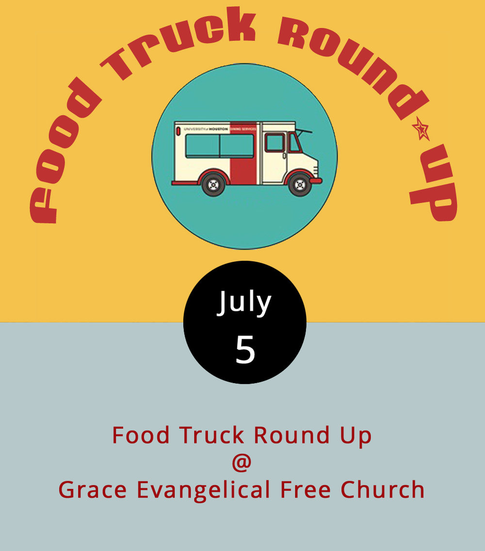 Food trucks can be hard to track if you don't follow each one of them on Facebook. But we know where you'll be able to find some of the better mobile local eateries this evening from 5-9 p.m. T&E Catering, Blue Ridge BBQ Shack, Upper Crust Pizza, Mama Crockett's Cider Donuts, and Nomad Coffee Co. are planning to coral at Grace Evangelical Free Church (21129 Timberlake Rd.) for one of them food-truck round-ups. Bring blankets and chairs for picnicking. Click  here  or call (434) 385-0560 for more info