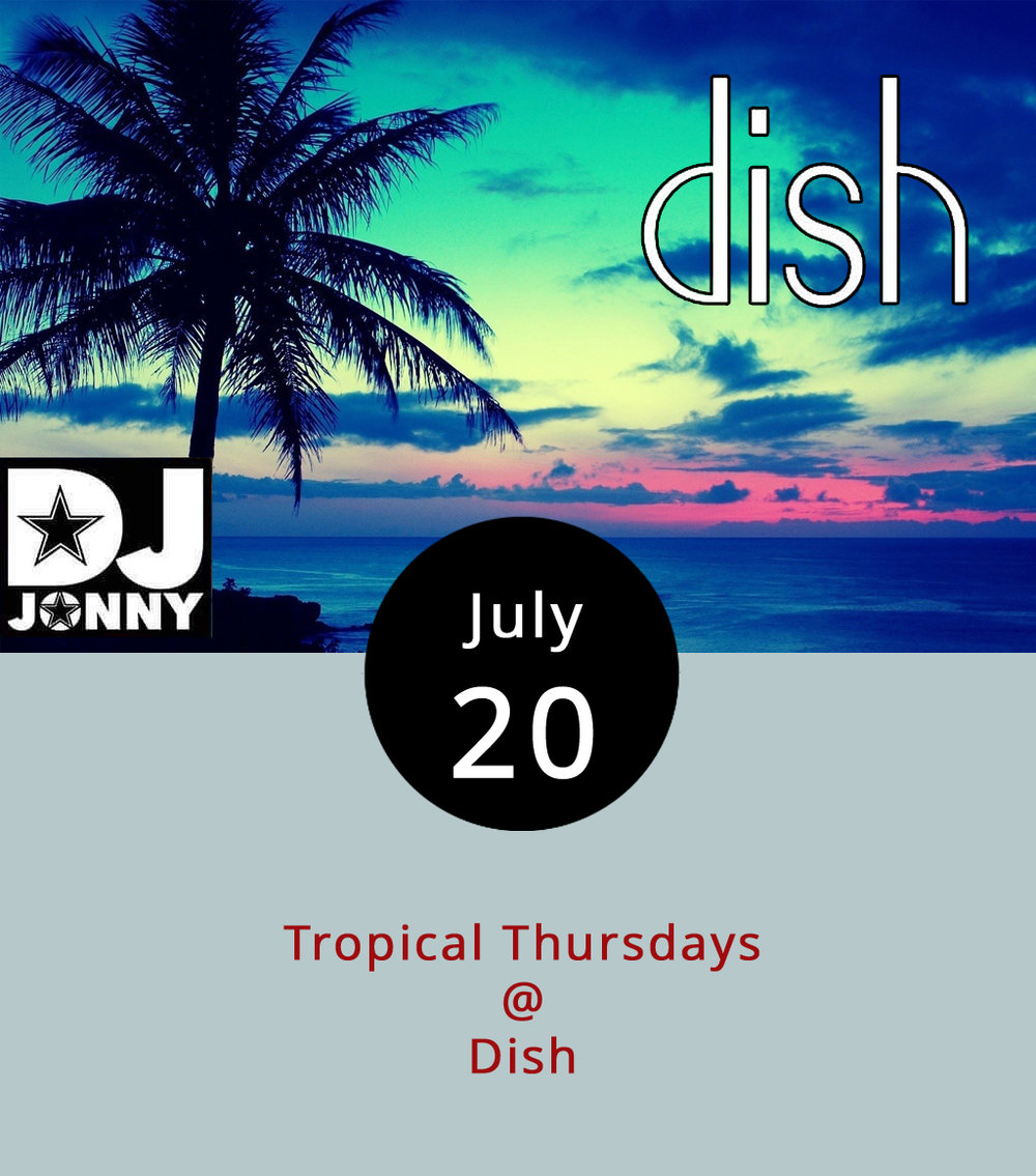 "To clarify the sort of Latin music appearing tonight and future Thursdays at Dish (1120 Main St.), DJ Jonny calls the event ""Tropical Thursdays."" The Roanoke-based DJ, who wants to build the weekly event in Lynchburg, said the night's music selection focuses on Salsa, Merengue, Bachata, Punta, and Reggaeton styles meant to keep people dancing from 10 p.m. until closing time at about 2 a.m. The cover starts at $5. For more information call Dish at (434) 528-0070 or click  here ."