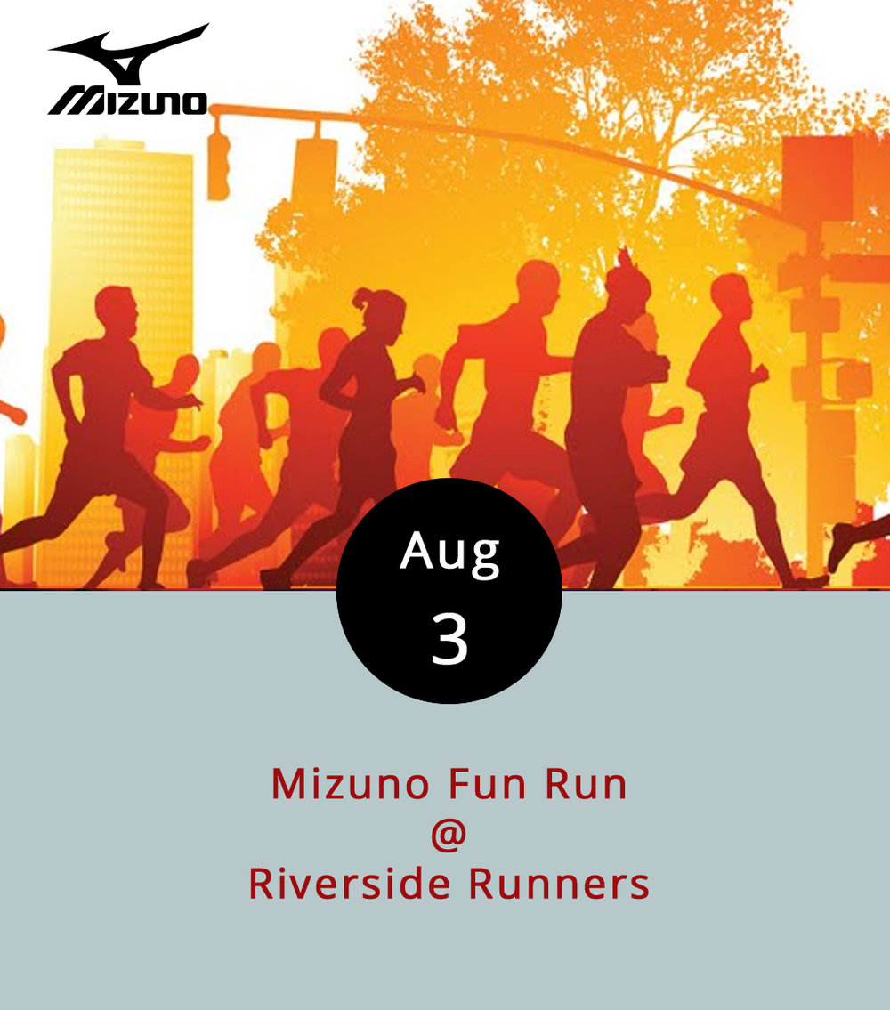 Come one, come all, to run and eat. The local folks at Riverside Runners (2480 Rivermont Ave.) are hosting a group run and cookout tonight starting at 6 p.m. The four-mile run is more of a community activity than a race per se, so runners are encouraged to pace themselves. The course will be determined the day of with consideration of the weather, but it will start and end at Riverside Runners, which will host a post-run cookout for participants. They'll also provide water and Gatorade to runners. Mizuno reps will be on hand with swag to award as door prizes. It's free; click  here  for more info, or call (434) 846-7449.