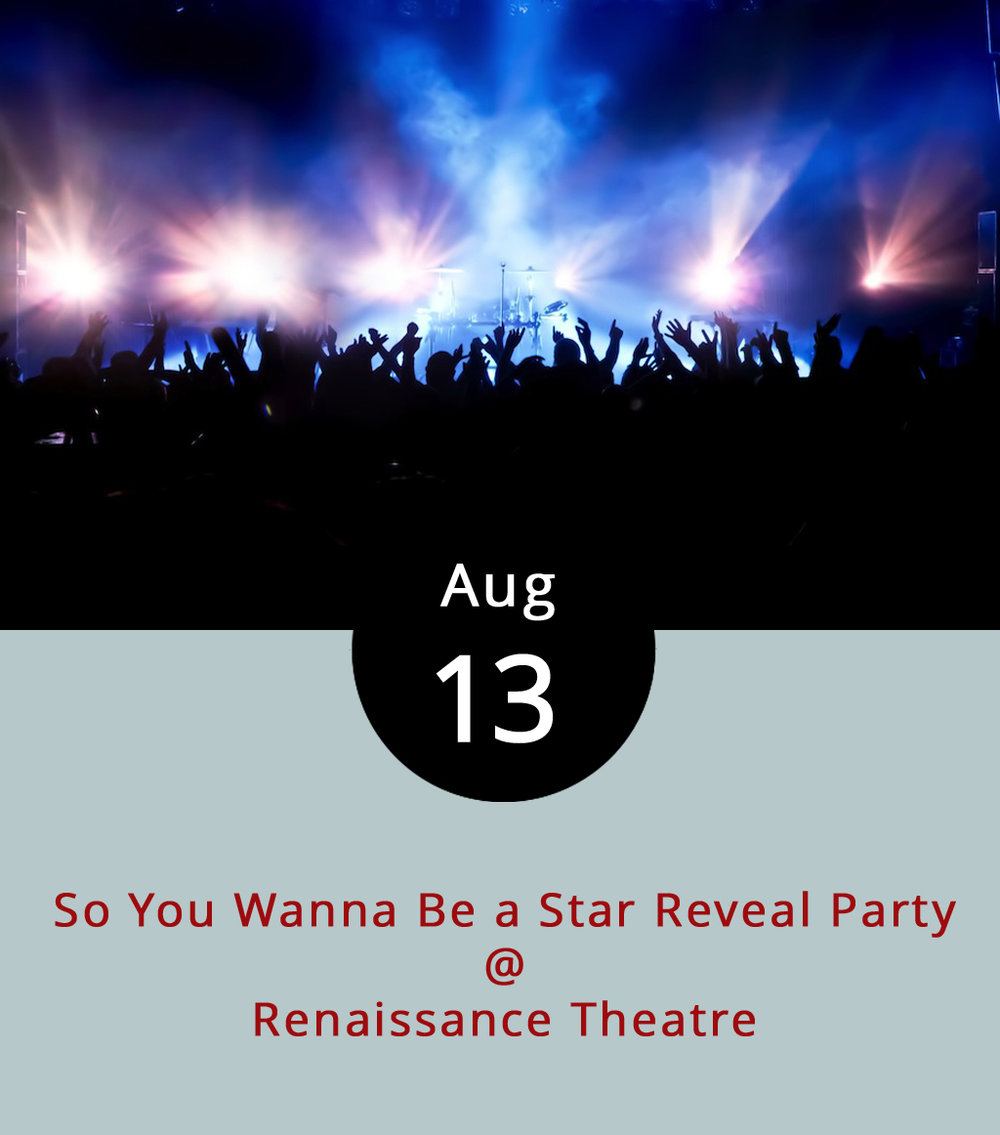 "Rather than just send out a press release or social media post to introduce the lineup for next season's performances, Renaissance Theatre (1022 Commerce St. #A) will act true to form and put on a show tonight to dramatize the announcement. The So You Wanna Be a Star Reveal Party features a ""cabaret-style evening of songs,"" performed by people associated with the troupe. The event, which includes a cash bar, is free and open to the public from 6-9 p.m. The nonprofit also welcomes donations as they pivot toward their five shows in the 2018 season. For more information about the event and theatre group, click  here  or call (434) 845-4427."
