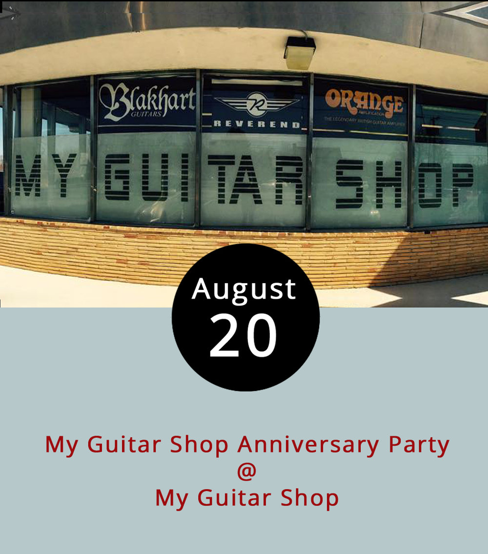 When Jake Ryan opened his charming musical emporium in Madison Heights four years ago, he chose an appropriate name for the place: My Guitar Shop (4529 S. Amherst Hwy.). He's celebrating four years of serving local guitarists, bassists, ukulele-ists, and other string strummers and pickers – as well as drummers, of course – with a big ol' party this afternoon. There will certainly be music, by many of the local bands Jake has provided with gear, including the Pete Turpin Band, Sonic Bloom, and the Underaverage Joes, as well as by Jake's own superbly named outfit, the Super Dudes. The folks from Loose Shoe Brewery out in Amherst will be on hand to provide libations; Uprooted will be food trucking it to the site to provide sustenance; and Hill City Inflatables will set up a couple of bouncy houses for the kids. There will also be a raffle to benefit Amherst Habitat for Humanity. The shindig runs from noon-7 p.m. in the store and surrounding parking lot. Admission is free; call (434) 534-7110, or click  here  for more info.