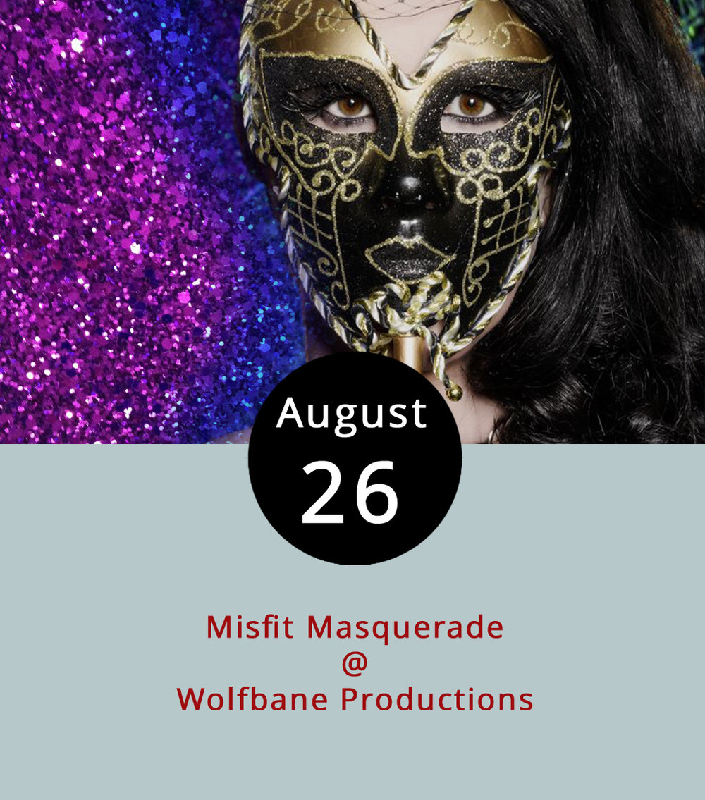 "To celebrate a decade of performances, Wolfbane Productions is hosting a birthday party-themed ""Misfit Masquerade"" and encouraging guest to dress for the occasion. Don a costume as a misfit of any kind – a favorite pop culture character, for example – or take the fancier tack and go groomed for a masquerade. The party is at the Wolfbane Performing Arts Center (618 Country Club Rd.), a woodsy area in Appomattox County. The celebration runs from 6-10 p.m. and features musical previews of the troupe's rendition of  The Rocky Horror Picture Show , which may inspire some costumes as well. The production is scheudled to open on Sept. 7. The evening will includea big-screened announces of the upcomming 2018 Wolfbane season, as well as video clips of Wolfbane's favorite misfits. They'll have beer, wine, and cider for purchase. Wepa Empanadas and Appetite Creamery food trucks will also be on hand. Costume contest competitors can win prizes, such as 2018 season tickets and a night at Appomattox Inn & Suites. Admission is $10 per person and $5 for students. The event is recommended for people 13 and older with proceeds benefitting the upcoming  Rocky Horror  production. For more information, click  here  or call (434) 579-3542."