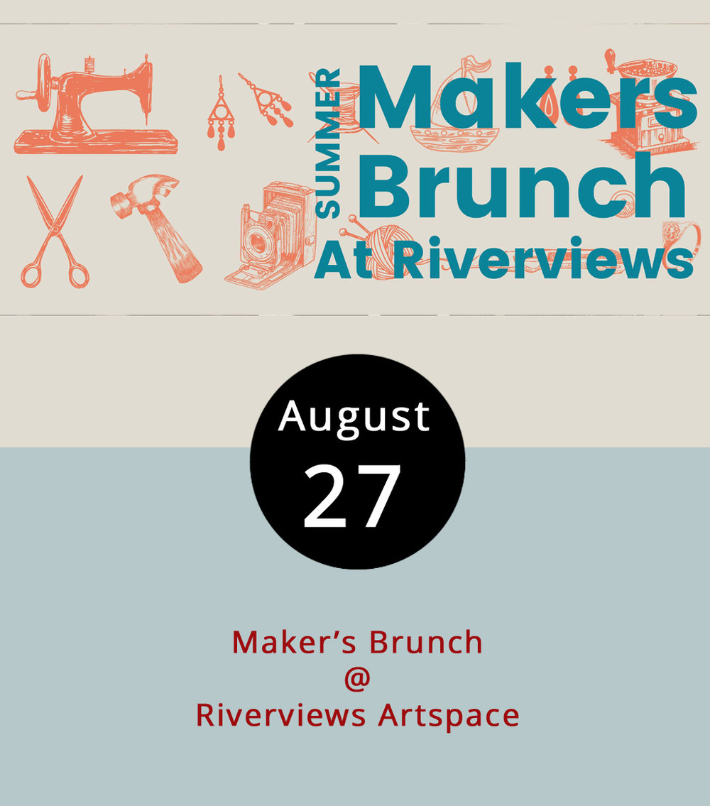 Try brunching and browsing today as Riverviews Artspace (901 Jefferson St.) hosts what they're calling a Maker's Brunch. That means a group of area craftspeople and artisans will accompany a $9 buffet that includes baked goods from Simply Irresistible Bakery as well as meats, cheeses, eggs, fruit and more. Mimosas, breakfast stouts, and coffee will be sold separately as will pancakes crafted to look like famous artworks. We're curious how that works, too. The artisans will have on display and for sale a variety of handcrafted goods, including jewelry, soaps, woodwork, leather goods and toys from 10 a.m. to 3 p.m. with a jazz trio offering ambiance. For more information, click  here  or call (434) 847-7277.