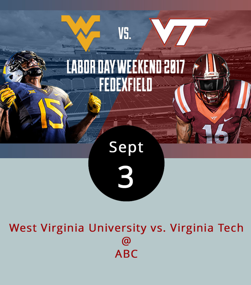 It shouldn't be hard to find a place to watch the West Virginia University vs. Virginia Tech game tonight as the border state rivalry keeps the season's opening weekend going. One ofthe best places around to watch the game might be  Bräuburger's  (1332 Venture Dr., Suite A, Forest) with an arsenal of wall televisions, although the new and larger location can get quite crowded. And then there's  Buffalo Wild Wings  (3812 Wards Rd.), always a reliable sports spot. But  Beale's  (510 Grove St.) in Bedford, one of the newest players in the brew-pub game, is throwing their hat in the ring this game day, extending their hours, adding specials — including a dozen wings for $12 and $1 off liters — and playing the game on their big screen inside. The Hokies and Mountaineers have competed annually for the Black Diamond Trophy since 1997, although the rivalry goes much farther back. While Tech controls the series with six of nine wins since the trophy's inaugural year, the Mountaineers lead the overall series 28-22-1. The game is scheduled for 7:30 p.m. on ABC.