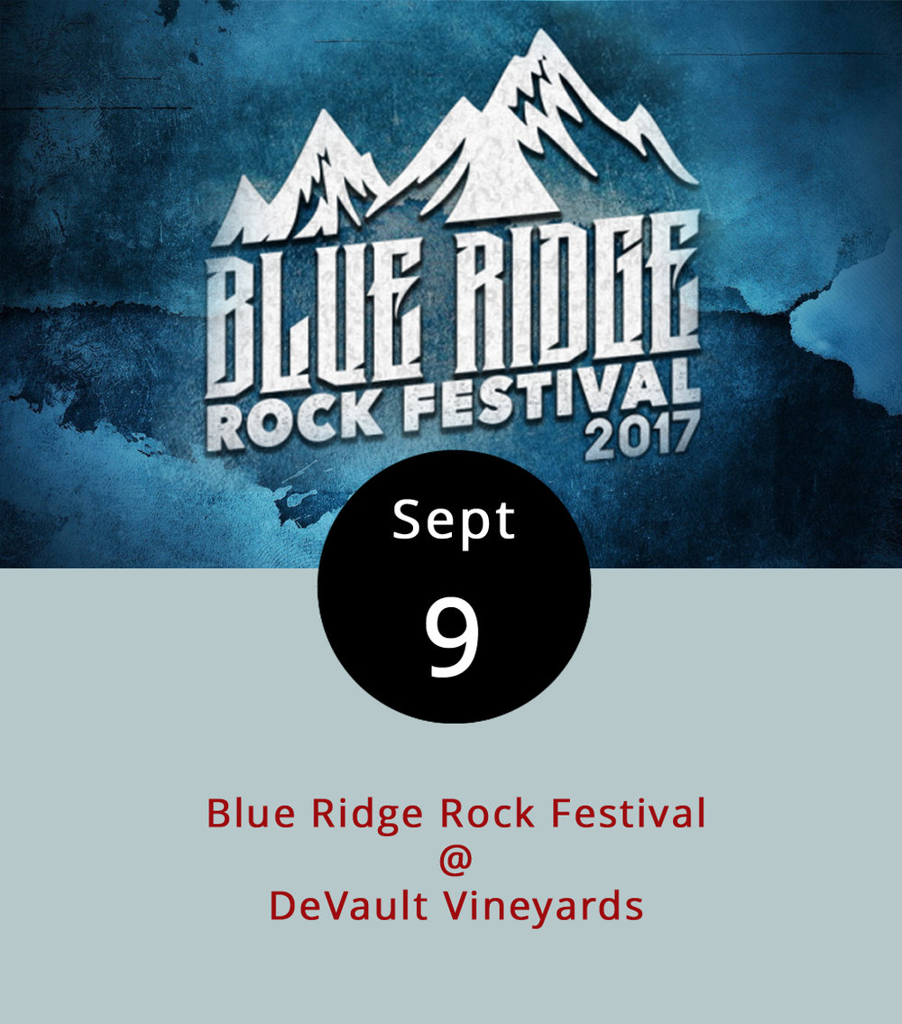 "There's more than one way to read ""Blue Ridge Rock Festival"": it could be a geology convention, or it could mean that the DeVault Vineyards (247 Station Ln.) in Concord will be rocking in a more figurative but no less immediate way from noon-11 p.m. today. It's definitely the latter. Former Creed frontman Scott Stapp will be there to perform his band's hits, and he'll be joined on the bill by grunge rapper Everlast, a reunion of the original line-up of ADEMA, Drowning Pool, P.O.D., and many, many more bands who lean toward the harder side of the rock spectrum. Your basic general admission ticket is $29.99 in advance, but there are several additional tiers of ticketing. Click  here  for full ticketing info, a complete list of bands, and more info on the festival."