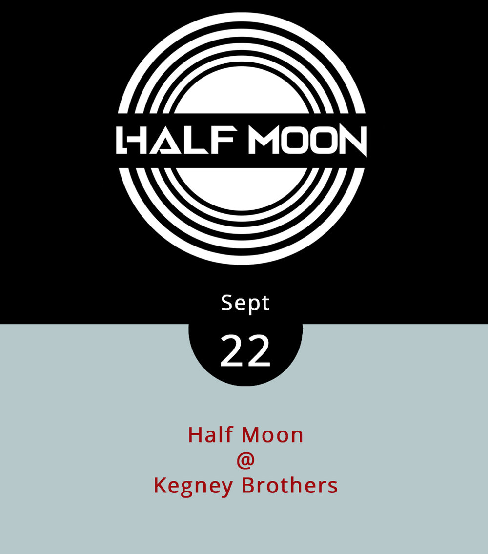 "Half Moon are a band out of Roanoke who like to call their brand of music Appalachian soul-rock. What that seems to mean is that they're a little bit country and a little bit rock and roll, with a little bit of r&b thrown in for good measure. We're also guessing that singer/guitarist Adam Beason and drummer John Beason are brothers, but we're not 100% sure. What we do know is that they're gonna play a set of original tunes at Kegney Brothers (1118 Main St.), followed by a quick change of character into ""Half Talking,"" a version of Half Moon that only performs Talking Heads covers. You may ask yourself, how did I get here?, in which case we recommend installing a locater app on your mobile device. A good one will give you a read on longitude and lattitude, which is a fine place to start. The fun at Kegney's starts at 10 p.m. and goes 'til last call around 1 a.m. There's a $4 cover, and it's 21-plus; call (434) 616-6691 or click  here ."