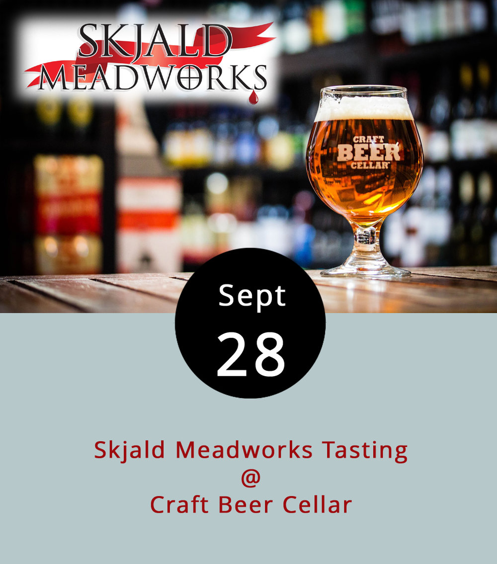 We can't say exactly how to pronounce the name of Skjald Meadworks, but we can confirm their tasting tonight at Craft Beer Cellar (3813 Wards Rd. #6 ) will offer a unique flavor experience. While there are a growing number of breweries, wineries, and cideries in the greater Lynchburg area, meaderies are still kinda rare. Skjald takes its name from the Norse word for traveling poet. Craft Beer Cellar will feature several of their libations from 5-8 p.m., including Undorn (traditional honey mead), Hadegi (black cherry), and Sumarmal (strawberry). For more information, click  here  or call (434) 386-8363.