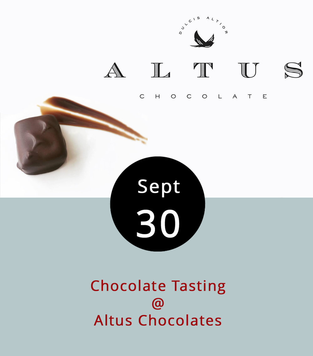 How do beans pulled from the earth transform into the deliciously sweet concoction called chocolate? There's too much to the process to explain here. Fortunately, Altus Chocolates (908 Main St.) has set aside 3-4 p.m. today to explain the process. Most importantly, the $7 ticket includes tastings of the creative chocolate treats Altus makes in-house. Seating is limited to 20 people. For more information, click  here  or call (434) 847-2970.