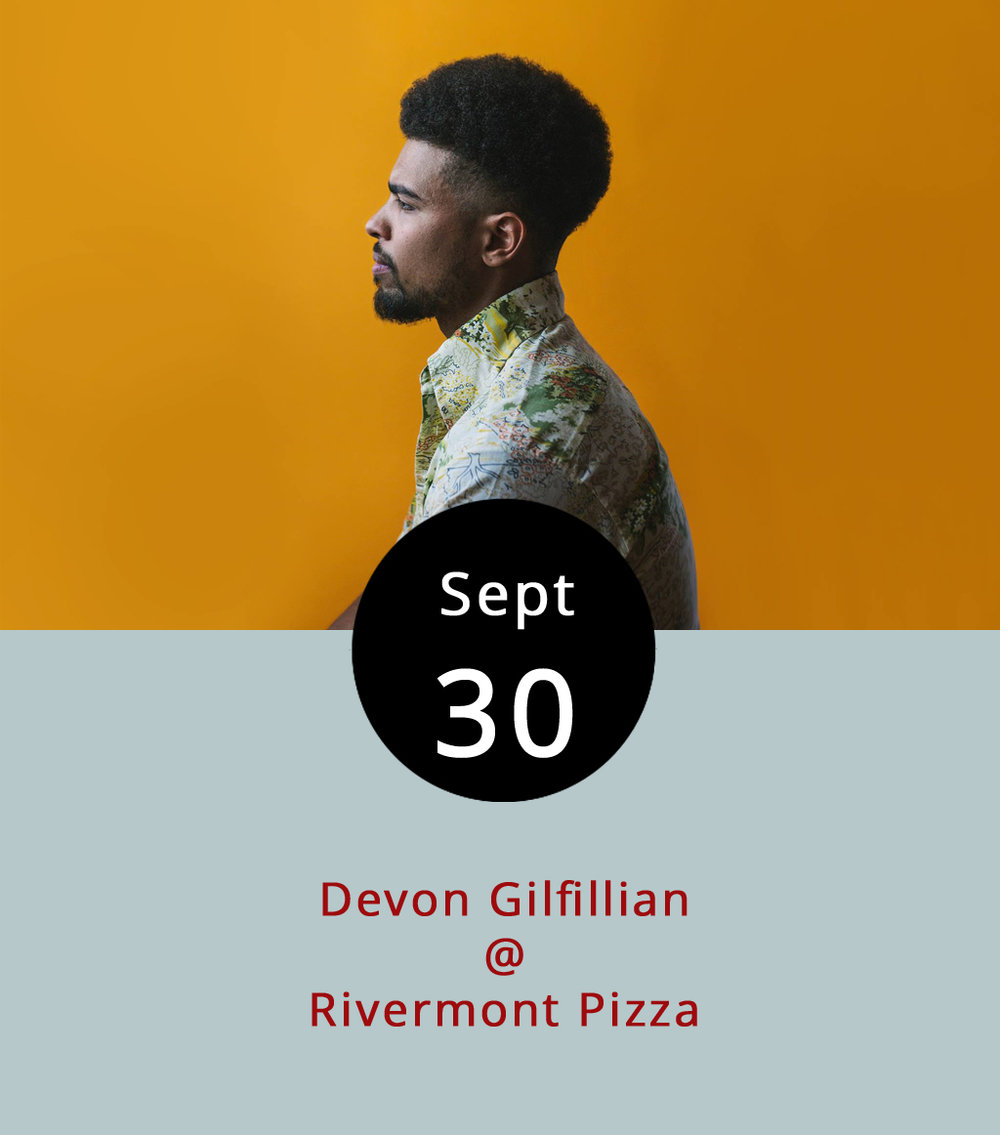 "Among the Nashville contingent performing in Lynchburg tonight is blues artist Devon Gilfillian whose Rivermont Pizza ( 2496 Rivermont Ave .) show starts about the time The Lone Bellow finish up at Riverfront Park. Gilfillian, described on his website as firing ""twin barrels of gospel-blues and southern soul,"" goes on at RP at about 11 p.m., so make haste if you're leaving from the downtown concert. To check out his self-titled EP from 2016, click  here . It's worth mentioning that Gilfillian shares a manager (Lynchstock Music Festival co-founder Jonathan Smalt) with Becca Mancari, a former Lynchburg artist who made her way to Nashville and opens for The Lone Bellow tonight. Smalt also drums in Gilfillian's band and co-produced his EP. There's no cover for the show scheduled to go until about 1 a.m. For more information click  here  or call RP at  (434) 846-2877 ."