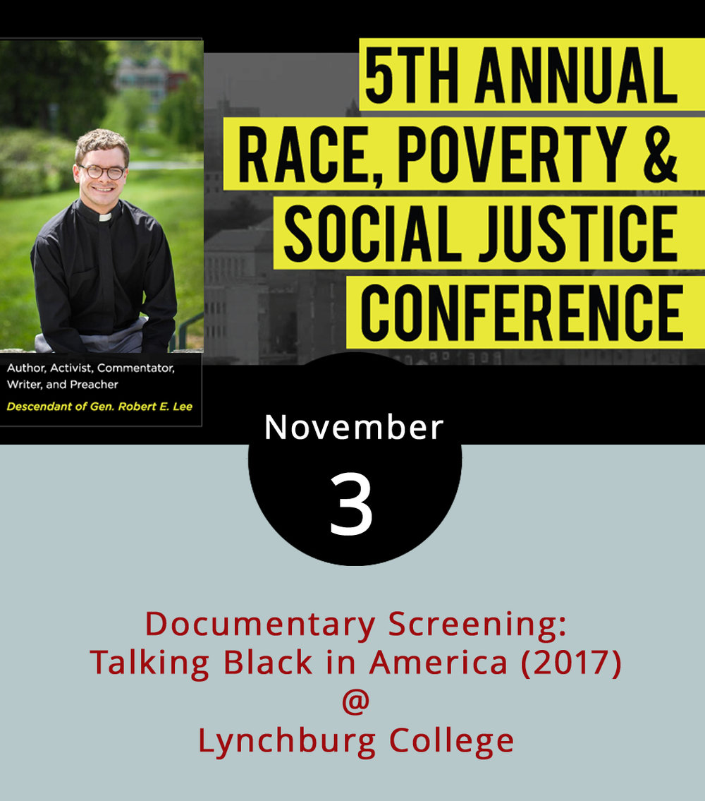 "As the United States continues struggling with racism and race relations, exhibited by flagrant white supremacist rallies and repeated protests by members of the black community against excessive force by police, the nation's citizens search for ways to communicate with each other. This weekend, Lynchburg College and Many Voices, One Community host the 5th Annual Race, Poverty and Social Justice Conference to help those conversations progress, with a number of free public events today. At 4 p.m. LC's Hopwood  Auditorium (1501 Lakeside Dr.) will screen the documentary  Talking Black in America (2017) directed by Danica Cullinan and Neal Hutcheson for the The Language and Life Project. ""The documentary addresses the persistent misinformation about African American speech and situates it as an integral part of the historical and cultural legacy of all Americans,"" according to its website. Discussion will follow. At 7 p.m., the Hall Campus Center ballroom will host ""Perspectives: A Conversation on Race, Poverty & Education,"" featuring former astronaut Leland Melvin and longtime Lynchburg-area civic leader Arelia Langhorne. For more information about the conference, click  here ."