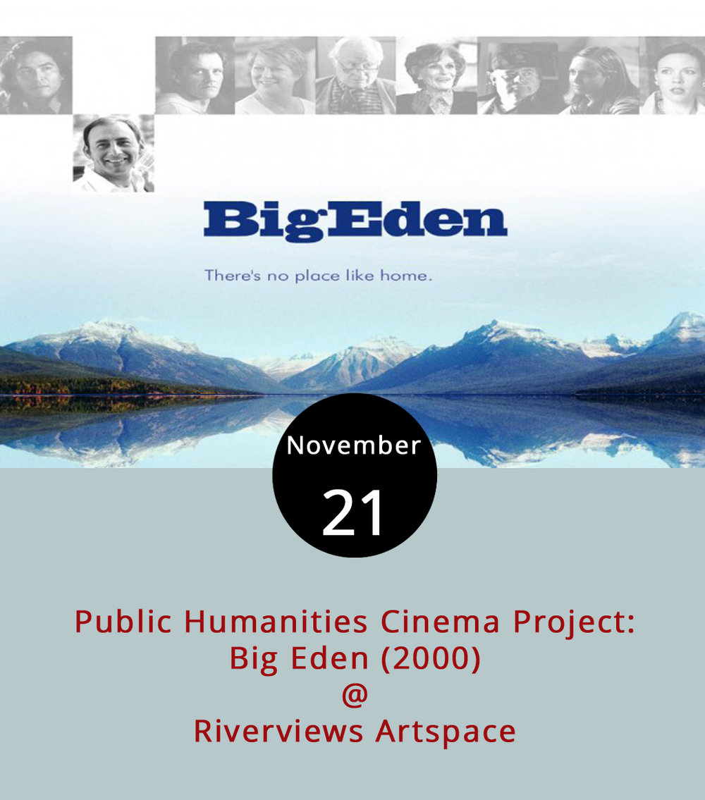 "The Public Humanities Cinema project, a collaboration between Riverviews Artspace (901 Jefferson St.) and the Lynchburg Diversity Center to spur discussion of LGBTQ+ culture and issues through film, continues tonight with a free screening of  Big Eden  (2000). In the film written and directed by Thomas Bezucha, a New York artist Henry Hart (Ayre Gross) returns home to Big Eden, Montana to support his sick grandfather. There he adjusts to seeing an old crush and meeting a new one. One IMDB reviewer excitedly described it as ""a film in which gay men were represented in all shapes and sizes, where they actually were OVER the age of 30, and where they were just regular guys!"" The screening starts at 7 p.m. in the Rosel H. Schewel Theatre. For more information about the event, click  here  or call (434) 847-"