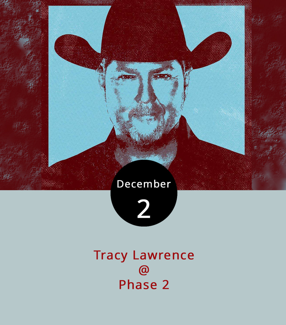 "It's been decades since country singer Tracy Lawrence's first hit, but less than a month since his most recent album dropped. Lawrence seems to be in a nostalgic mode in his latest album "" Good Ole Days ,"" so that's the mood the Phase 2 (4009 Murray Pl.) crowd can expect tonight. Lawrence,  known for hits ""Find Out Who Your Friends Are"" (2007) and ""Paint Me a Birmingham"" (2004), will perform along with special guest  Will Jones , a West Virginia native. Doors open at 7 p.m. for the 8 p.m. show, which is 18 and over.  Tickets  are $24.99 in advance. For more information, click  here  or call (434) 846-3206."