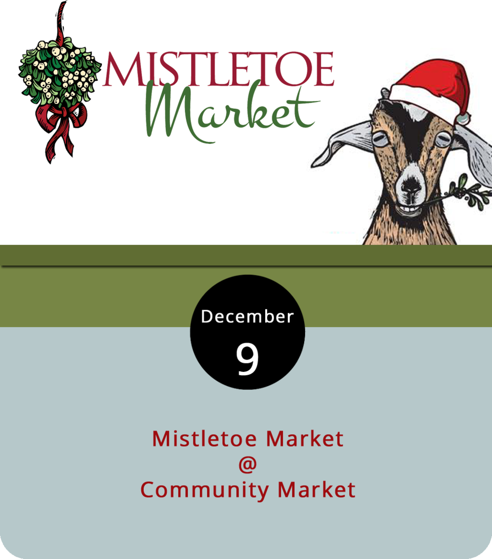 It's the time of year when Lynchburg Community Market (1219 Main St.) switches up its style and goes by another name: Mistletoe Market. Shoppers can get groceries from their usual market vendors as well as presents from the artisan shops in one spot from 7 a.m. to 2 p.m. And the big man himself, Santa Claus. will meet with the kids for free from 10 a.m to 2 p.m. while horse-drawn carriages take folks around downtown for $2 per person. Locavore cooks will also give lessons on preparing a holiday meal with local ingredients. For more information, click  here  or call (434) 455-4489.