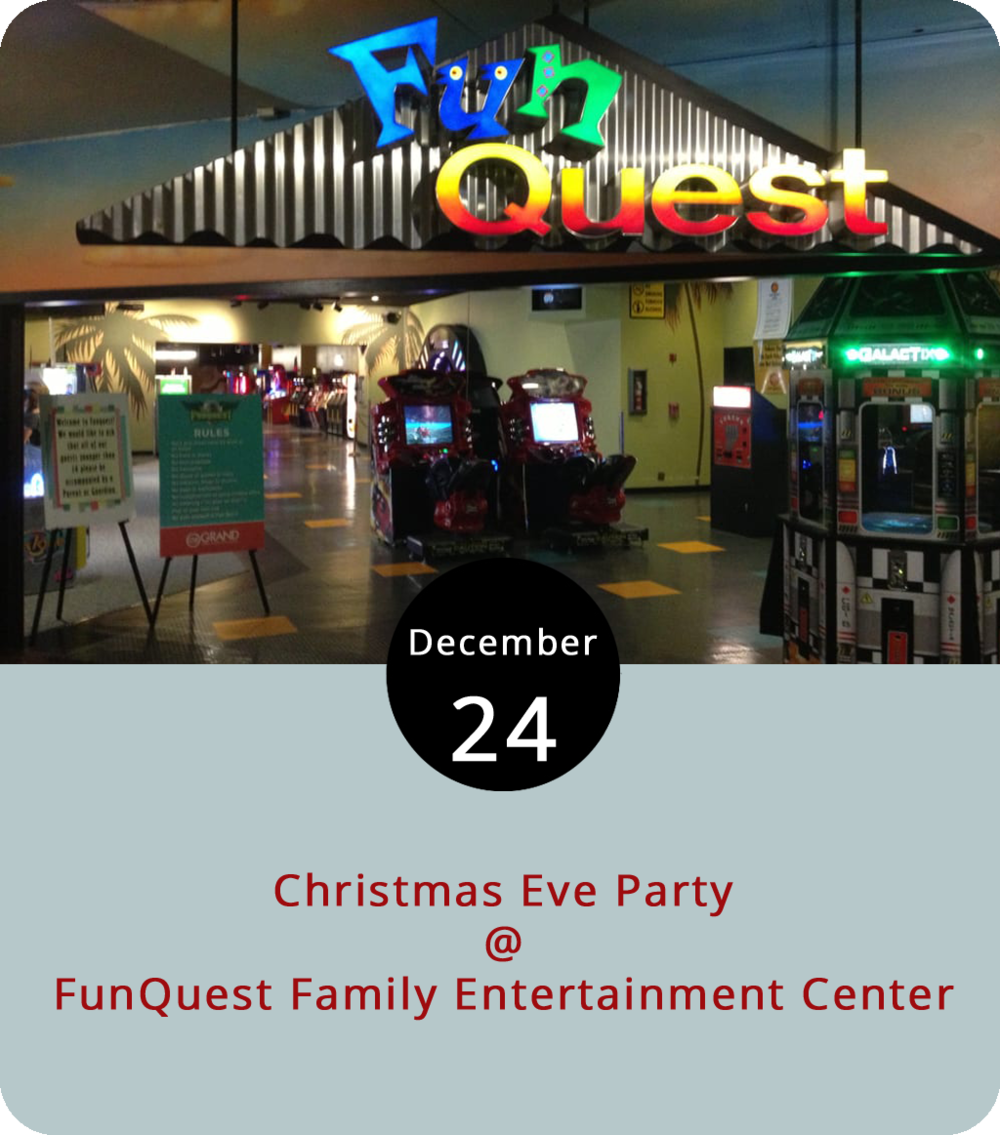 We're not exactly sure how an indoor snowball fight will work, but fictional snowman Olaf from Disney's  Frozen  (2013) seems to have something to do with it. The movie's Elsa, who will serve up cookies and hot chocolate, will join her friend today at FunQuest Family Entertainment Center (327 Graves Mill Rd.) for a Christmas Eve Party from 1-4 p.m. They'll be showing Christmas movies all afternoon and prices will be discounted. The snowball fight is at 3 p.m. with cookies and hot chocolate served from 2:30-3 p.m. The facility offers rolling skating, arcade games, laser tag and  more . For more information, click  here  or call (434) 239-6411.