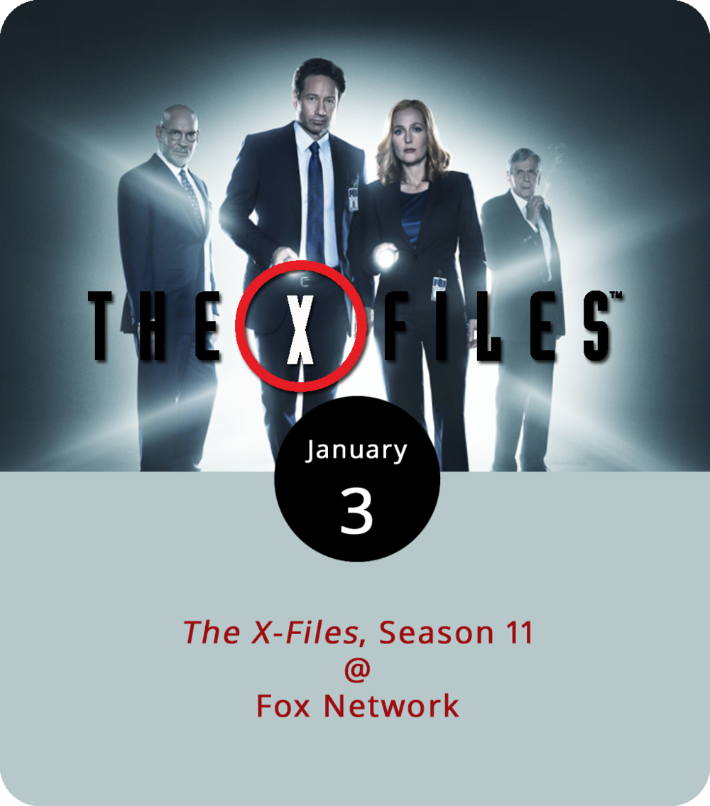 "In case you missed it, David Duchovny and Gillian Anderson returned to their roles of rogue FBI agents Fox Mulder and Dana Scully last January, when  The X-Files  returned to network television for a short tenth season after more than a decade of hiatus. The critics were a little lukewarm, but the enough fans tuned in to justify a fuller 11th season. There are 12 news episodes ready to go, and they begin airing tonight at 8 p.m. Of the dozen new one, two are part of the so-called ""mythology arc,"" which traces the twisted roots alien arrivals, the governmental cover-ups, and twisted conspiracies that have apparently led to our present predicament. In other news, still no word on when or if the History Channel will be bringing back  Ancient Aliens  for a 13th season in 2018, but our fingers are crossed."